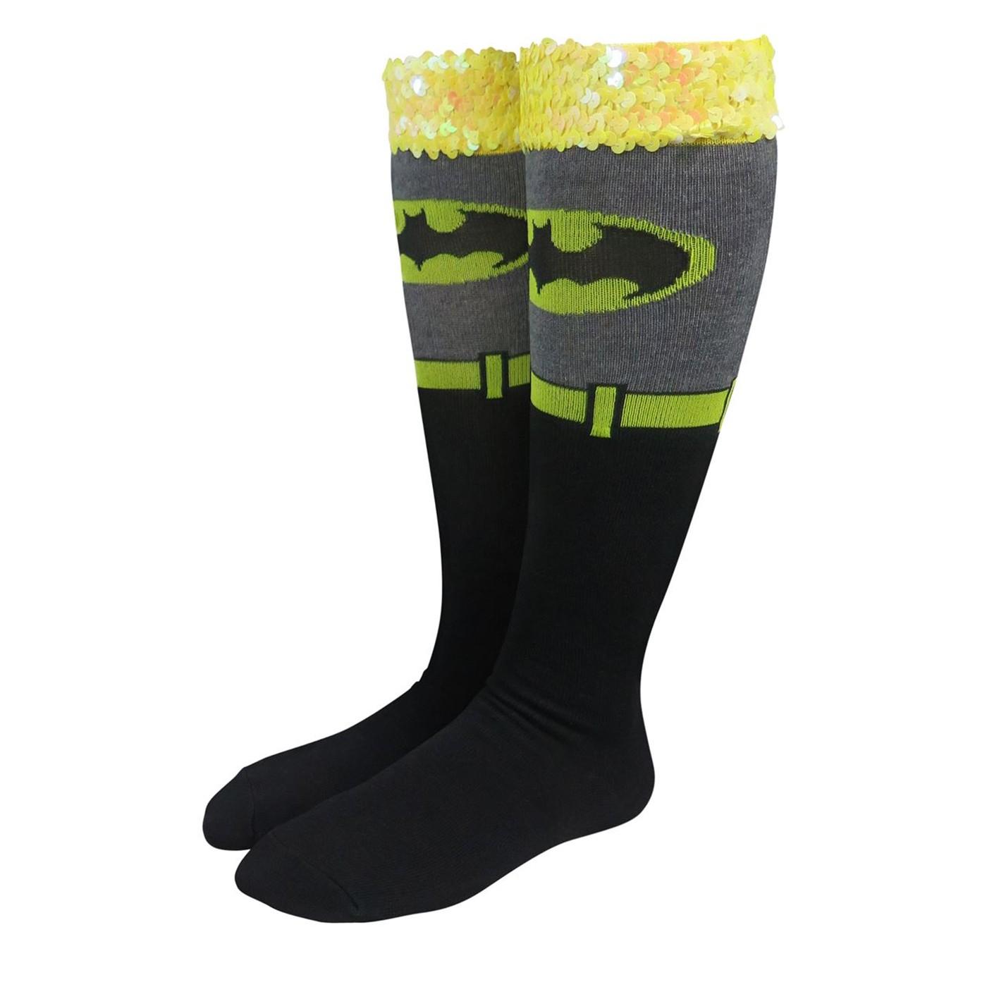 Batman Costume Women's Knee High Socks