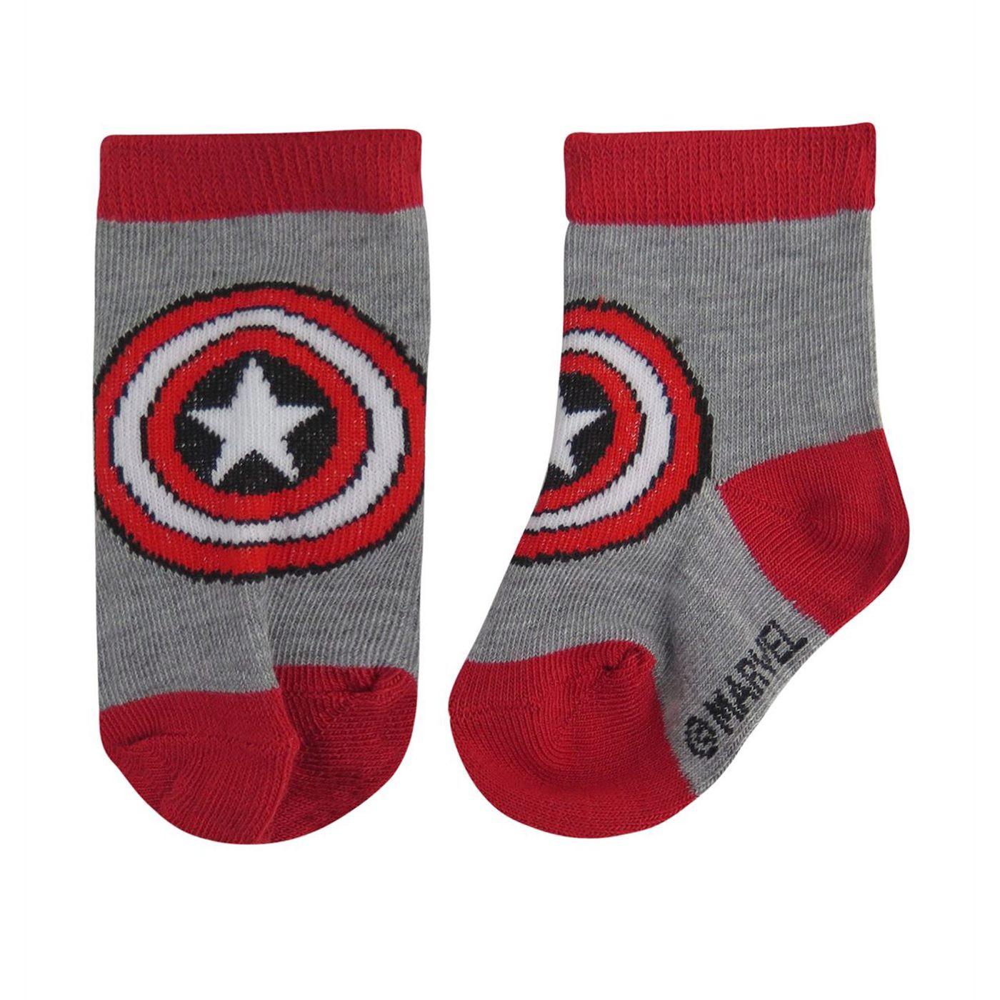 Captain America Hero Infant Socks 6-Pack