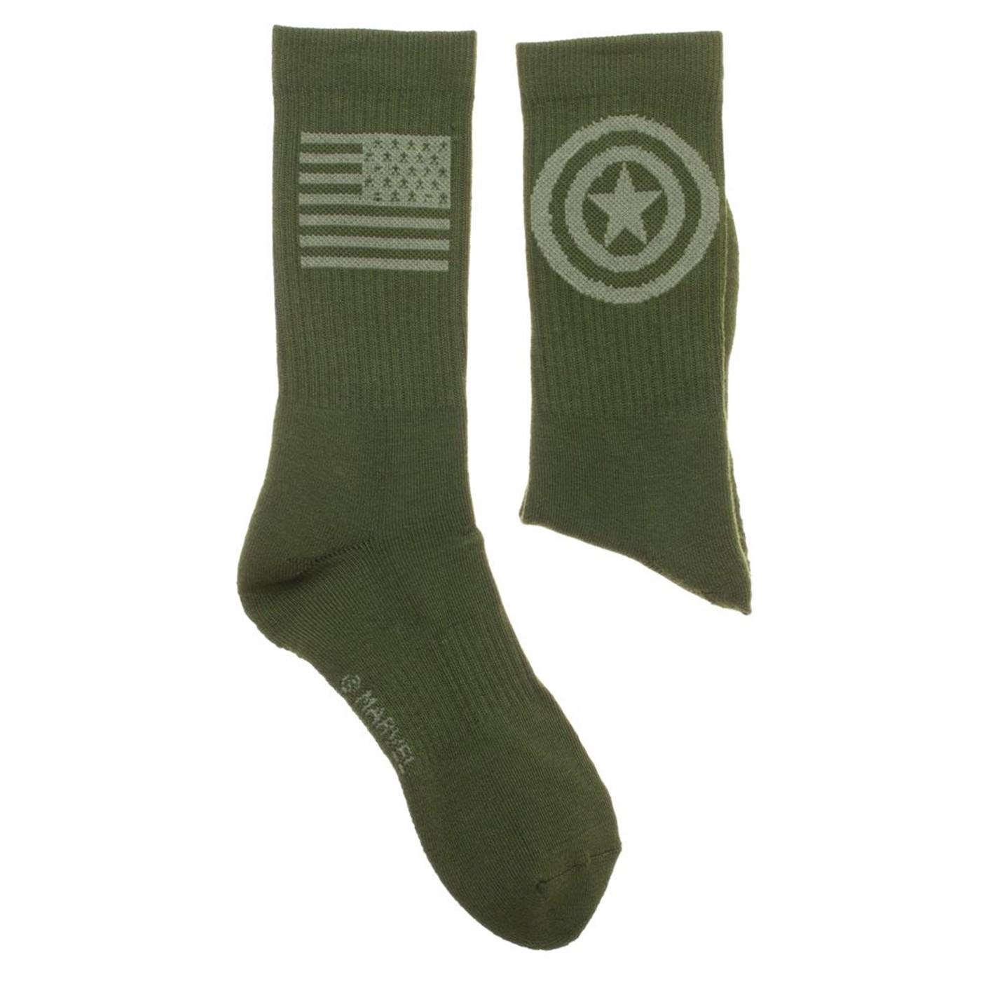 Captain America Salute To Service Athletic Crew Socks