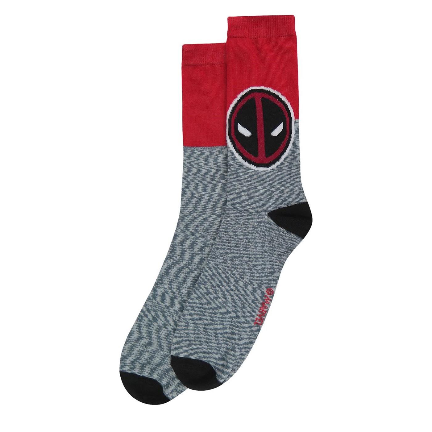 Deadpool Logo Crew Socks 2-Pack