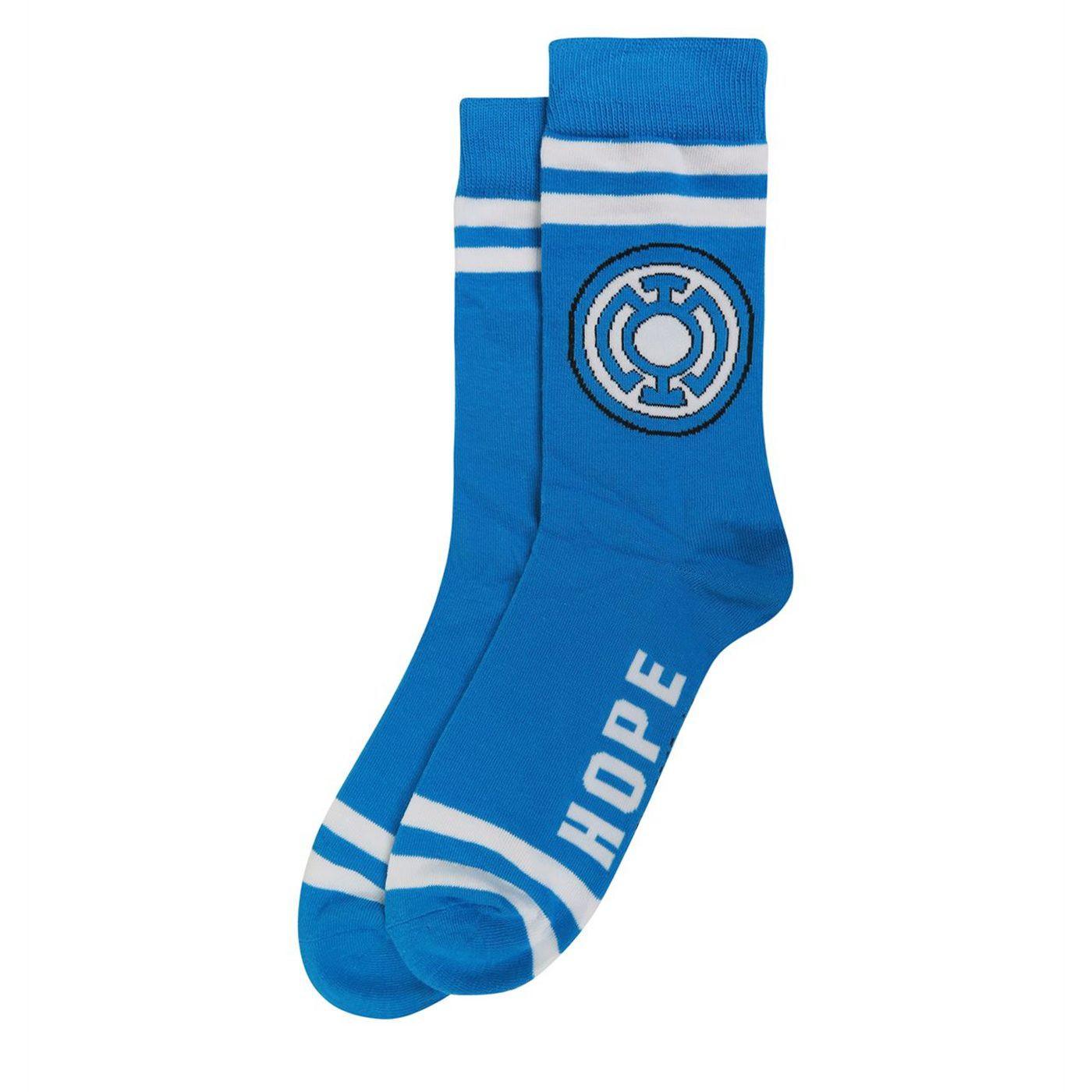 Green Lantern Blue Lantern Hope Socks