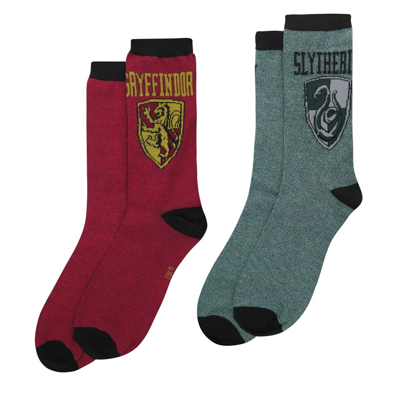 Harry Potter Gryffindor & Slytherin Crew Socks 2-Pack