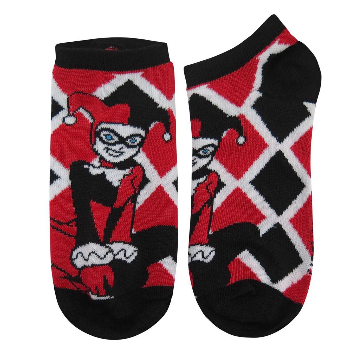 Harley Quinn Animated Women's Ankle Socks 3-Pack