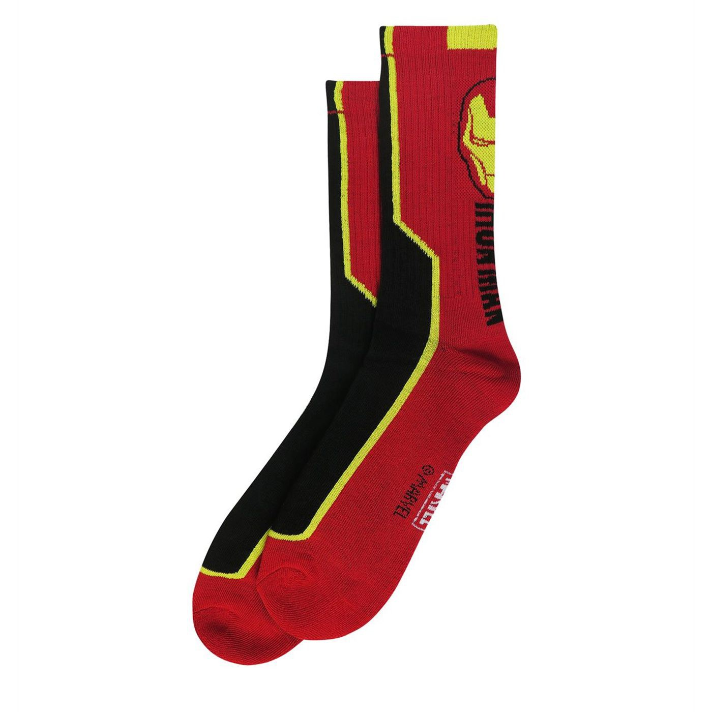 Iron Man Two-Tone Athletic Crew Socks