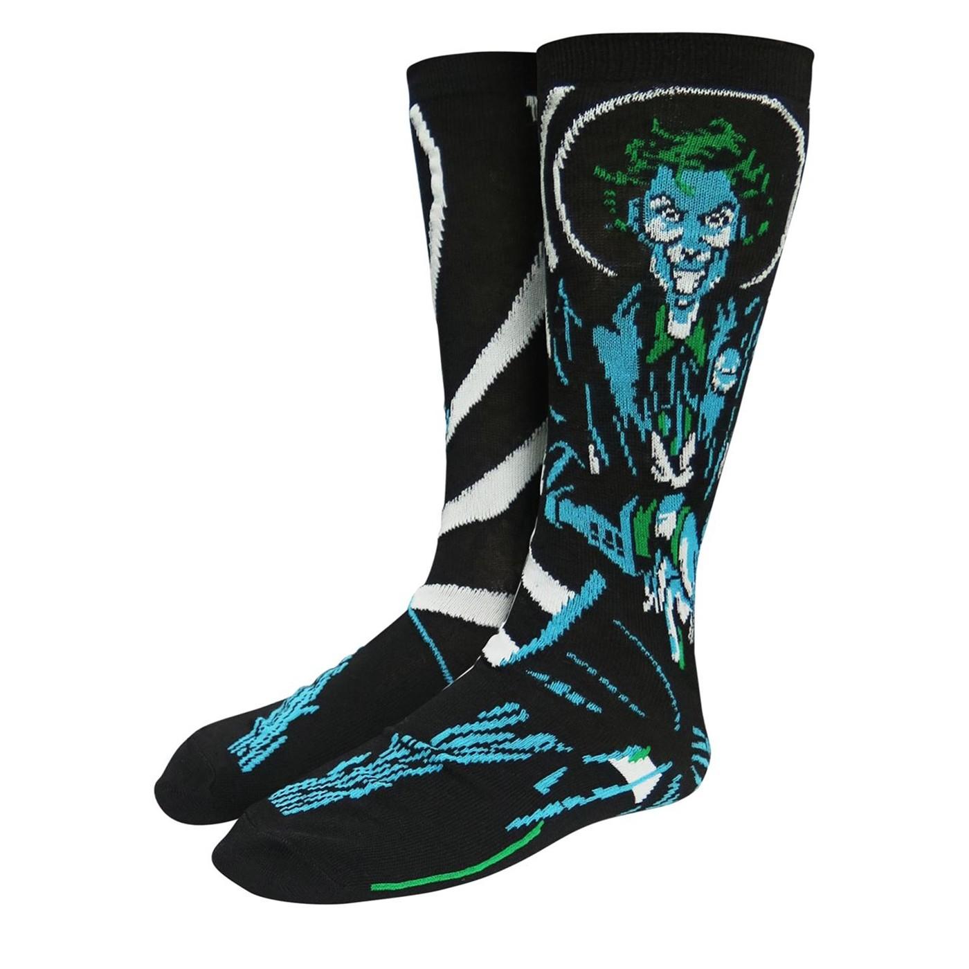 The Joker Clown Prince of Crime Crew Socks 2-Pack