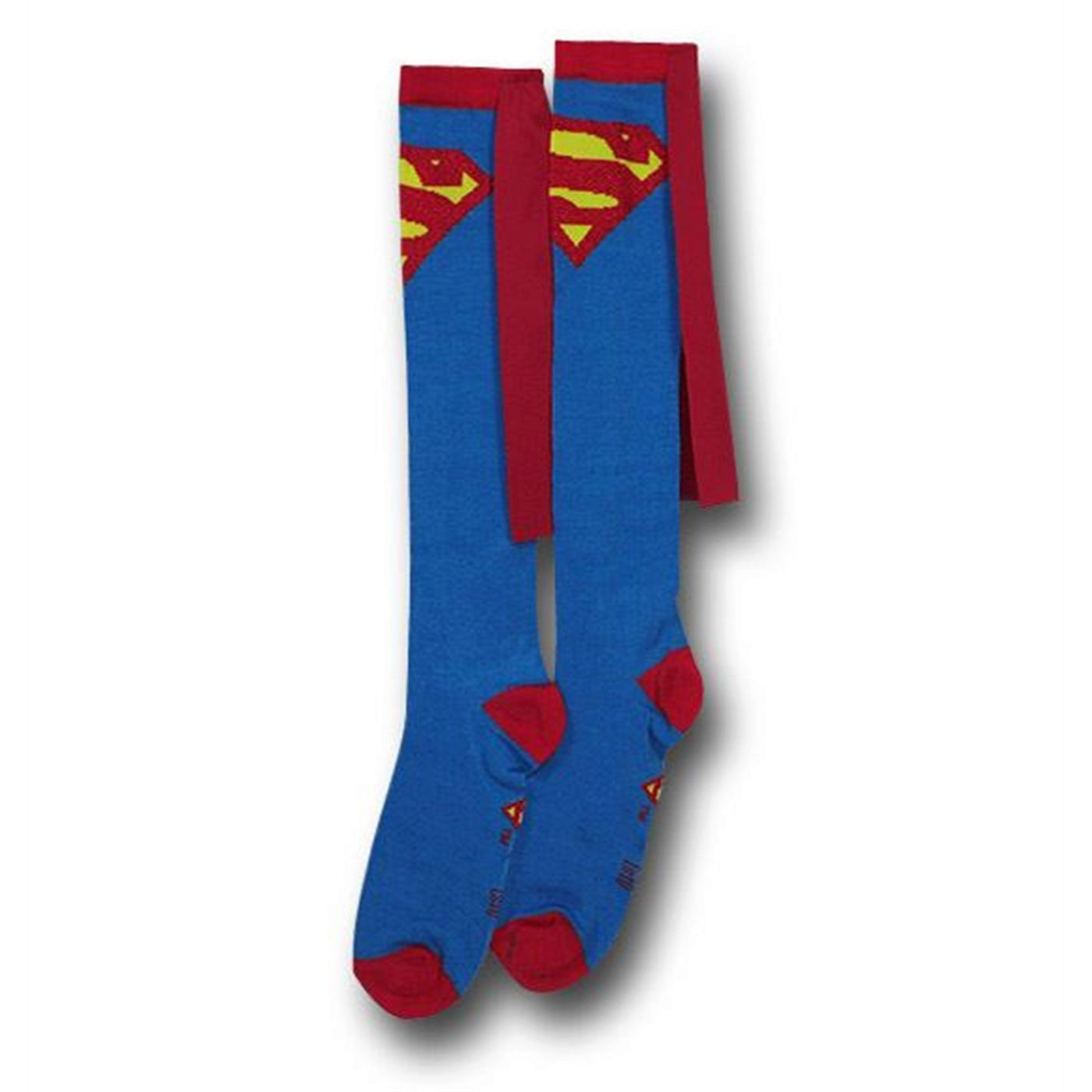 63f787123 Superman Socks w/Capes Women's Knee-Highs