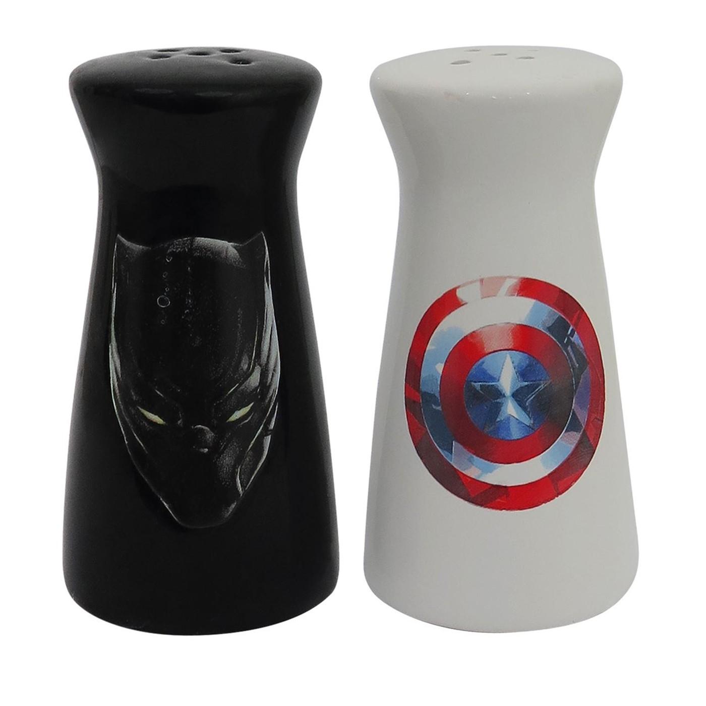 Captain America Black Panther Salt & Pepper Shakers