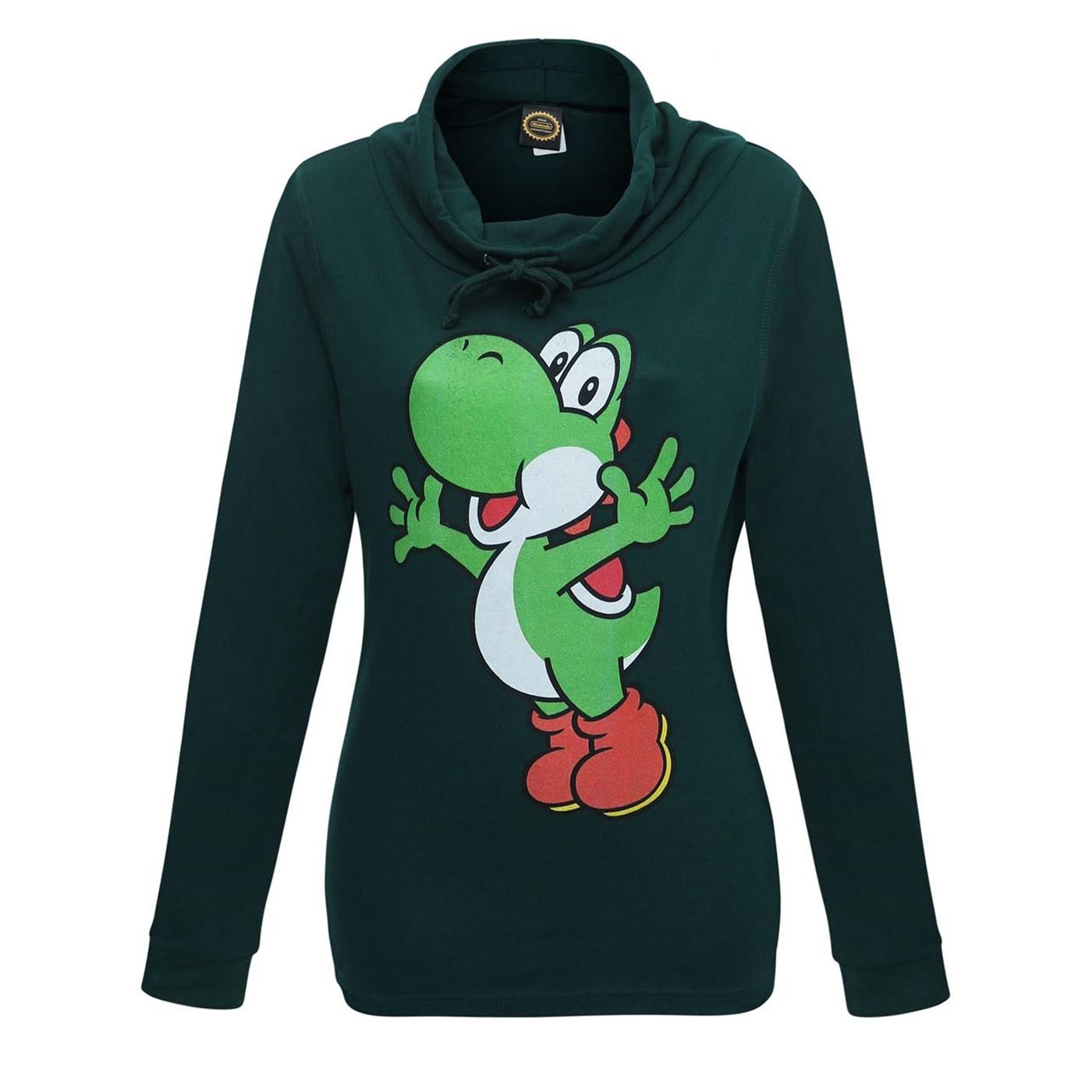 Super Mario Yoshi Women's Cowl Sweatshirt