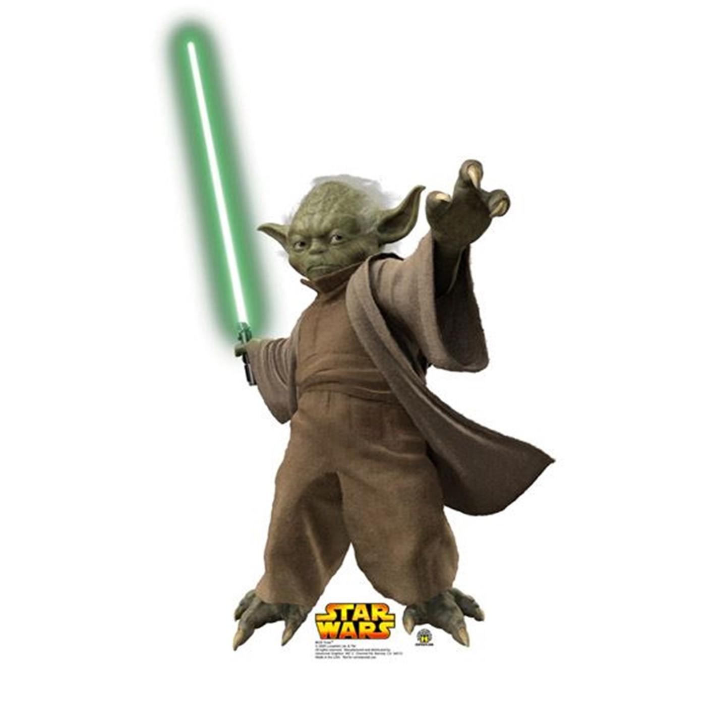 Star Wars Yoda Cardboard Cutout