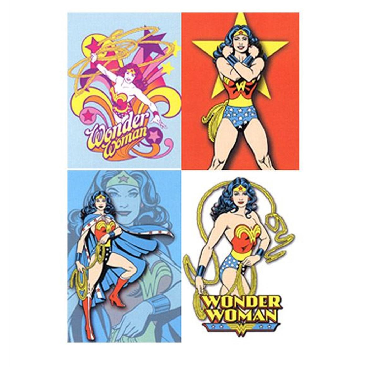 Wonder Woman Set of 4 Stickers