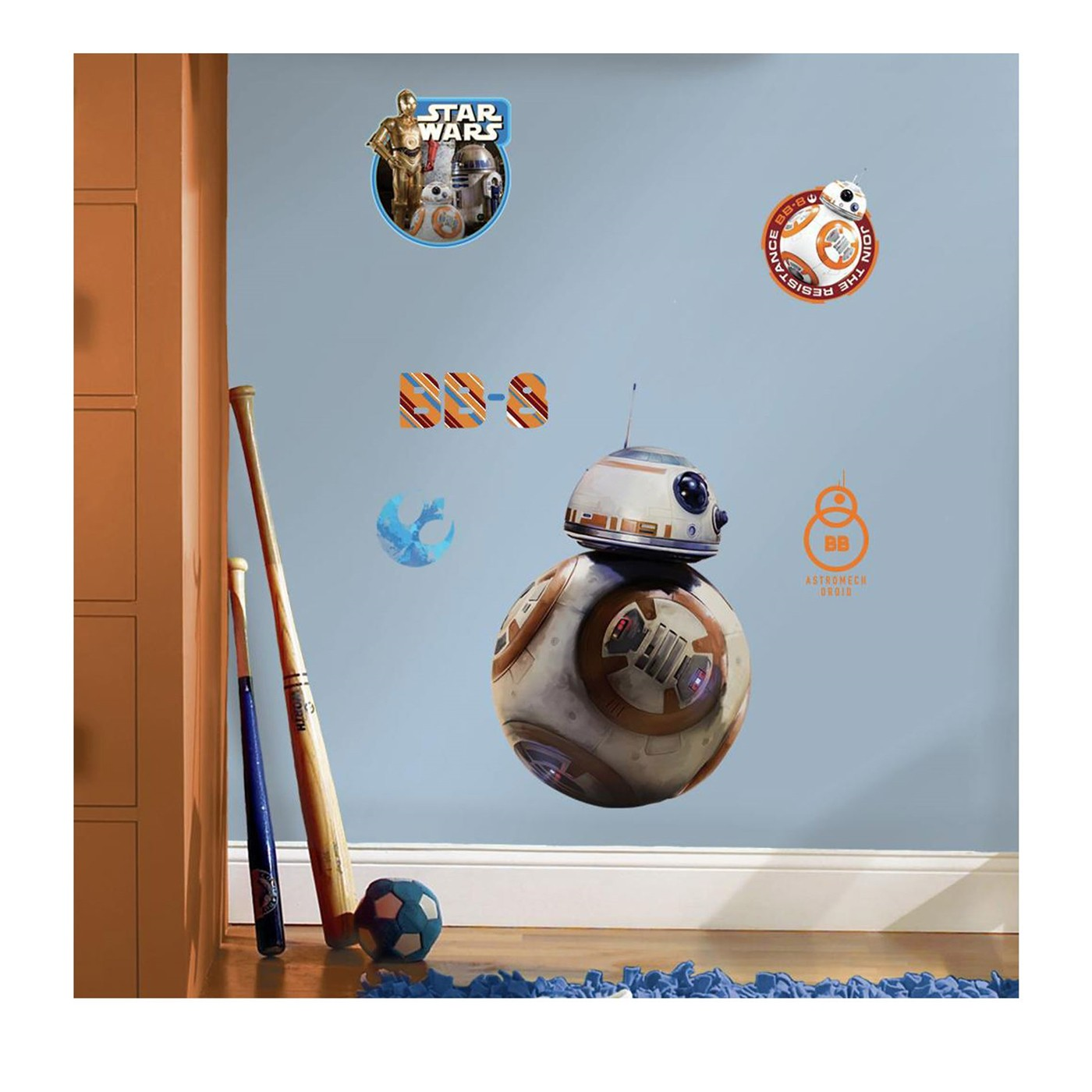 Star Wars Force Awakens BB-8 Giant Wall Decal