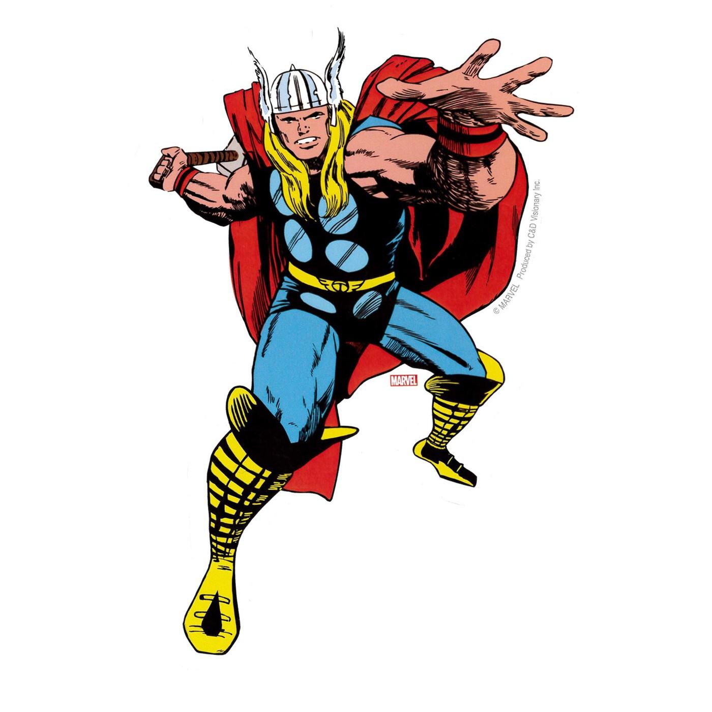 Thor Throwing Sticker