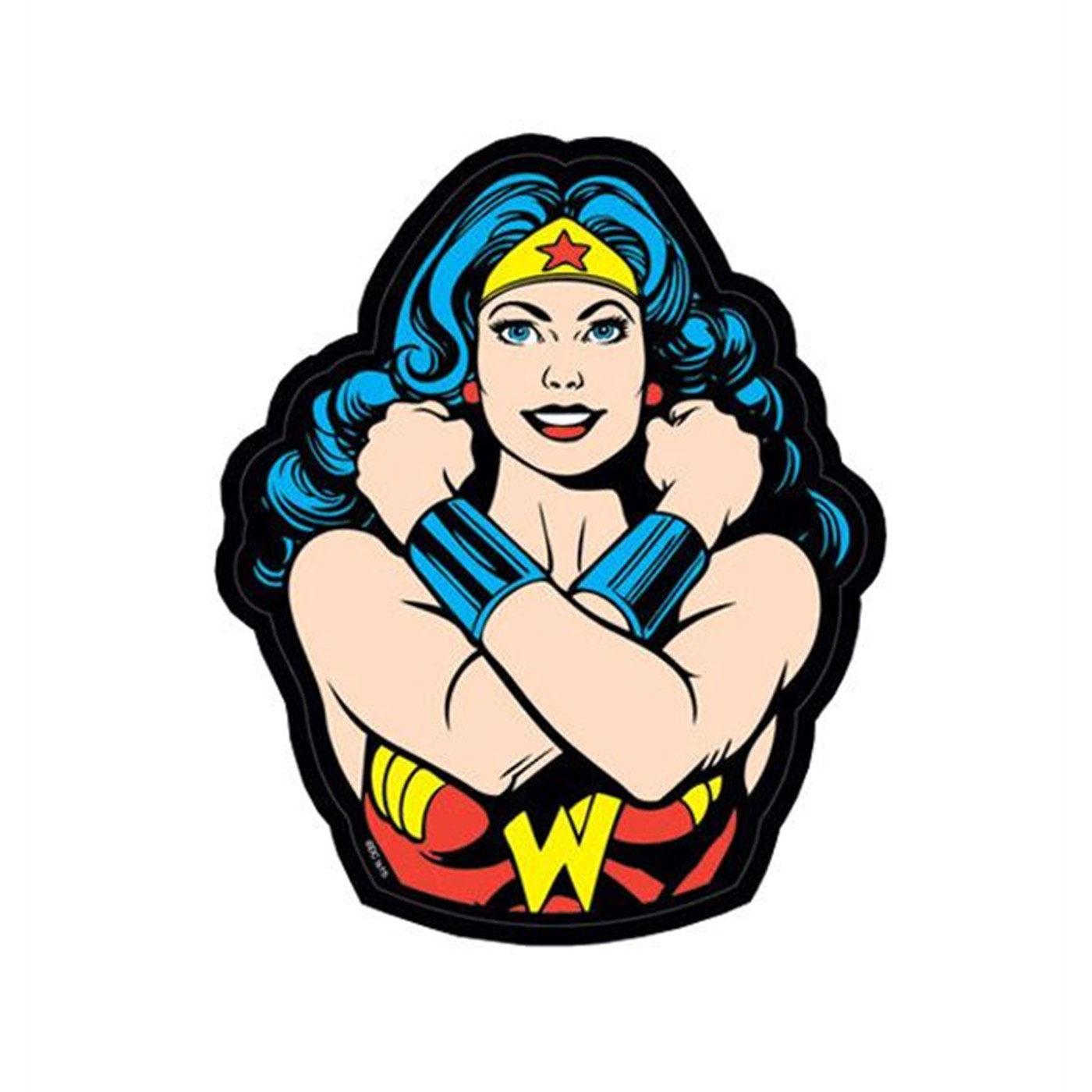 Wonder Woman Crossed Arms Sticker