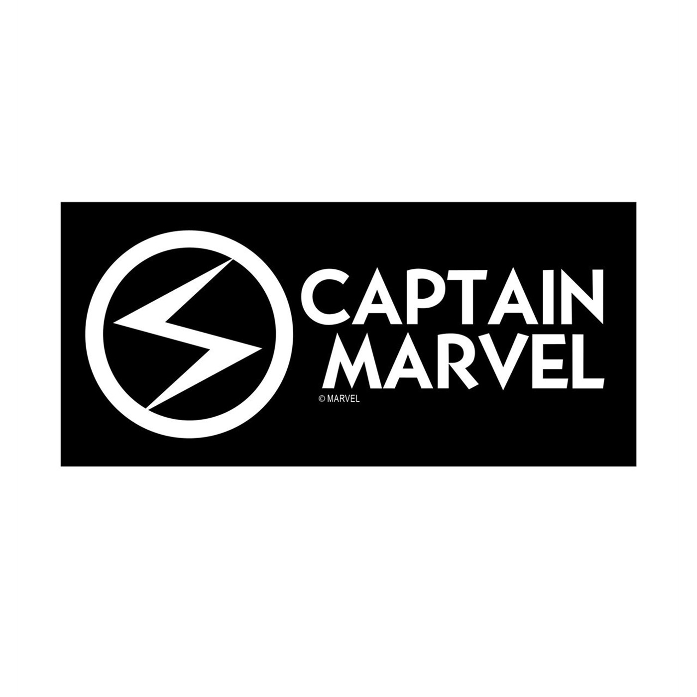 Captain Marvel White Decal