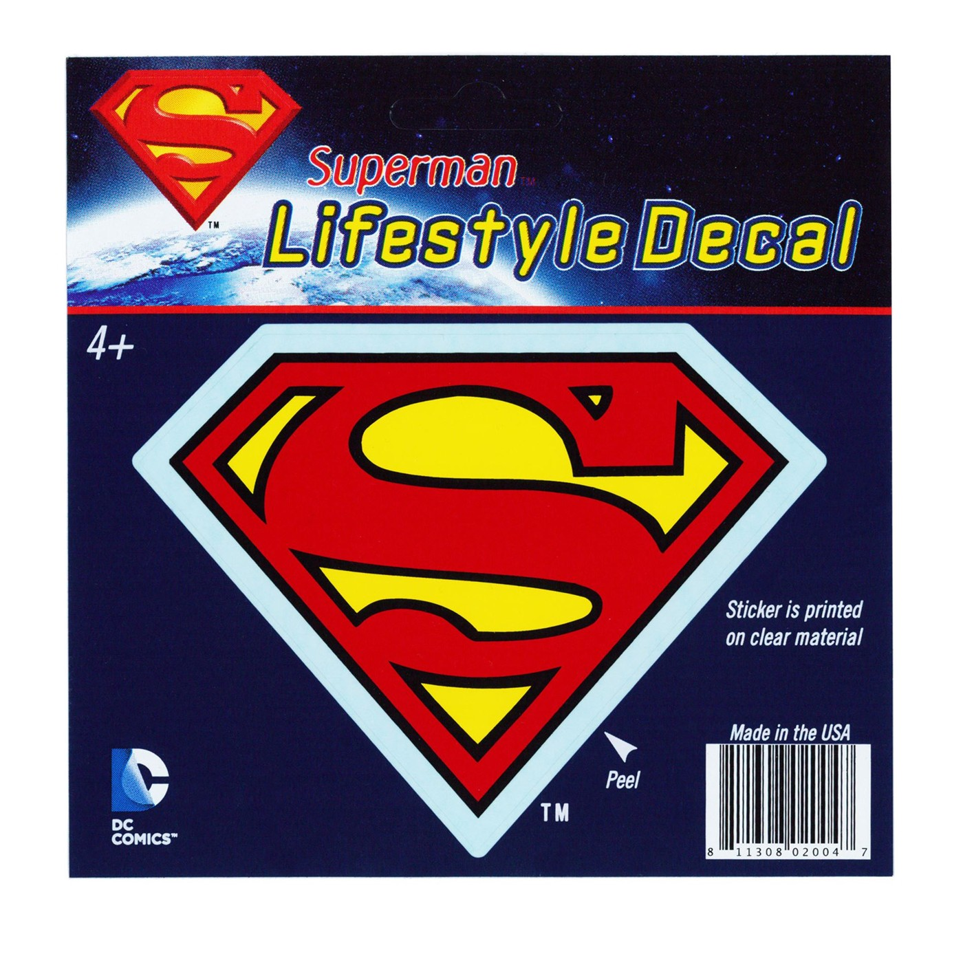 Superman Red Symbol on Yellow Lifestyle Decal