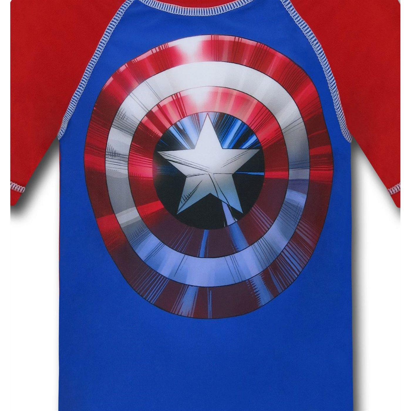 Captain America Kids Rashguard
