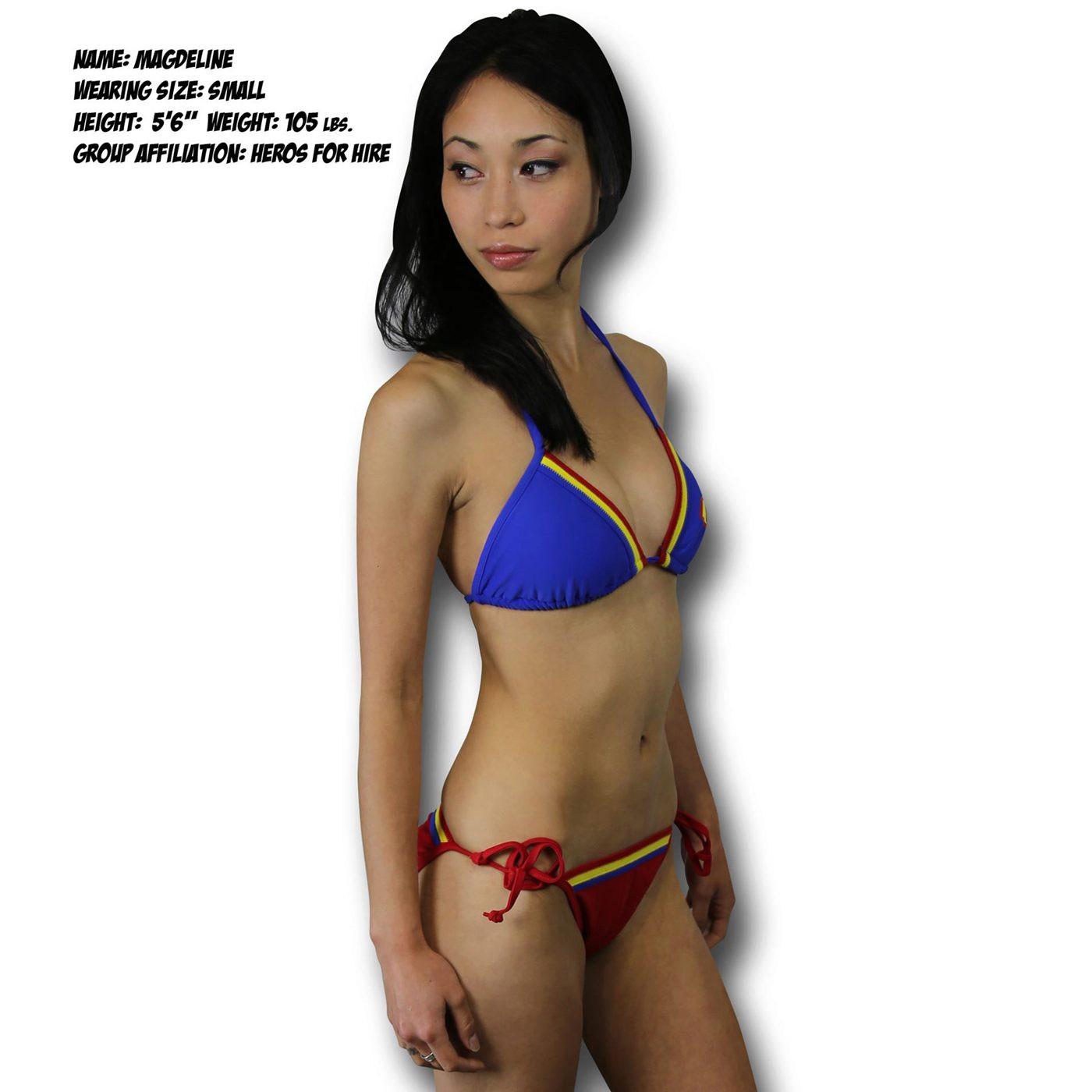 Supergirl Triangle Band Bikini