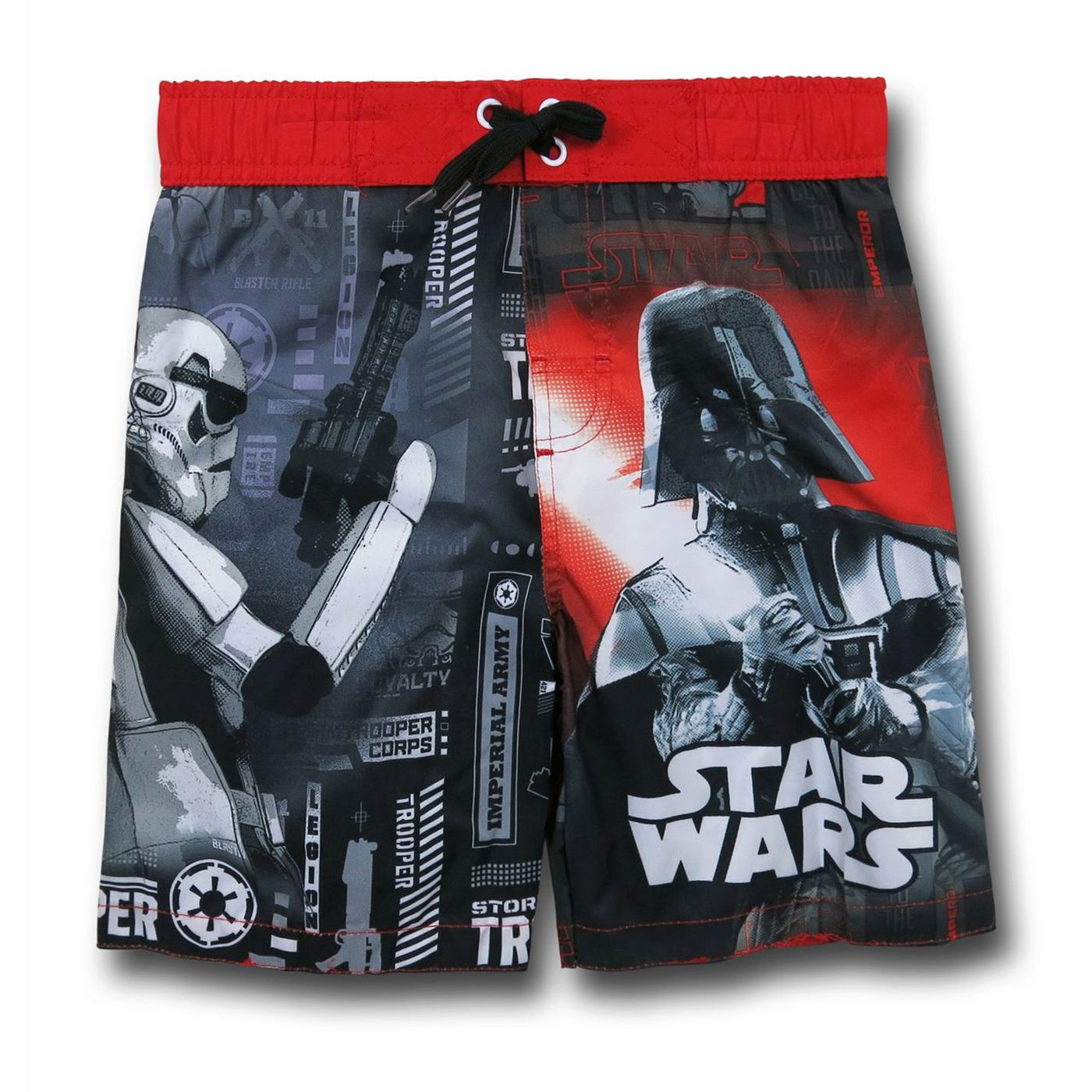 Star Wars Vader Trooper Kids Swim Trunks