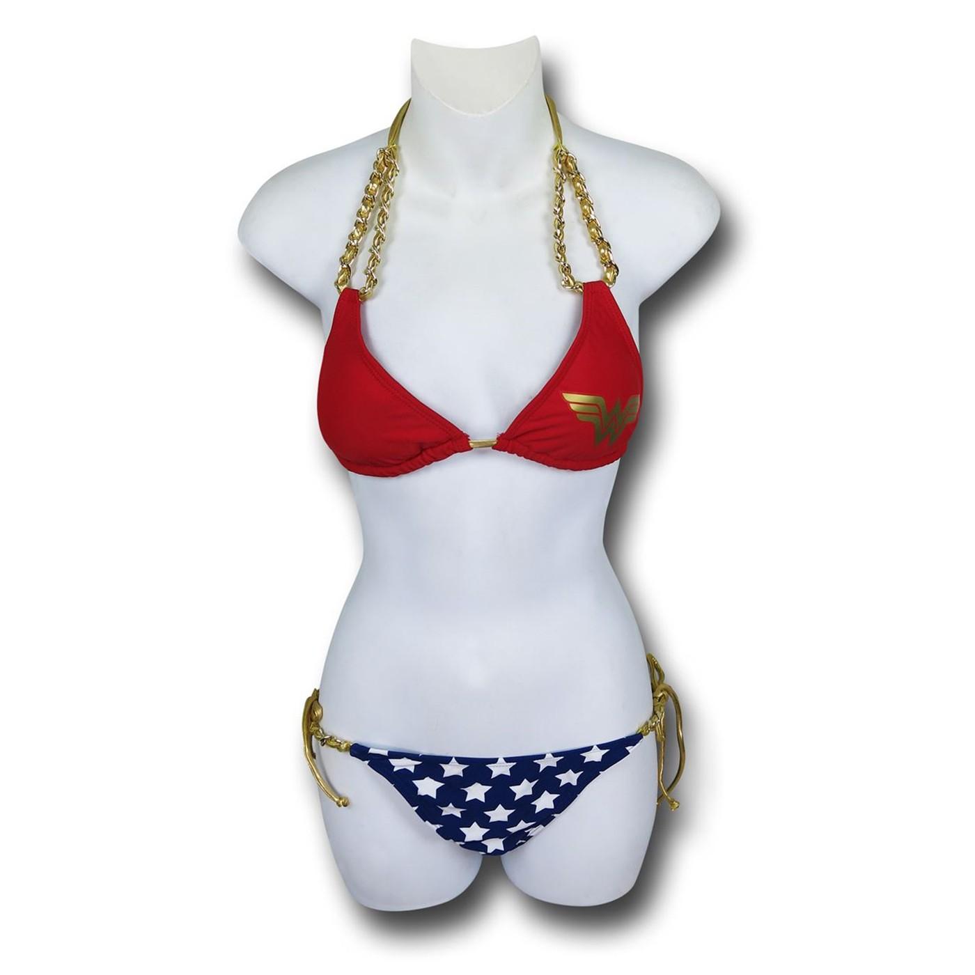 Wonder Woman Chain Triangle Bikini