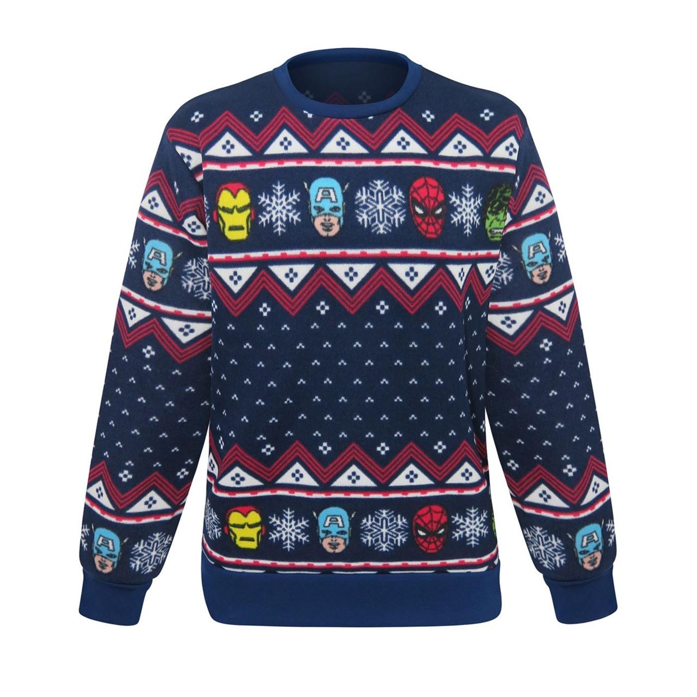 Mens 3x Ugly Christmas Sweater.Marvel Avengers Ugly Men S Christmas Sweater