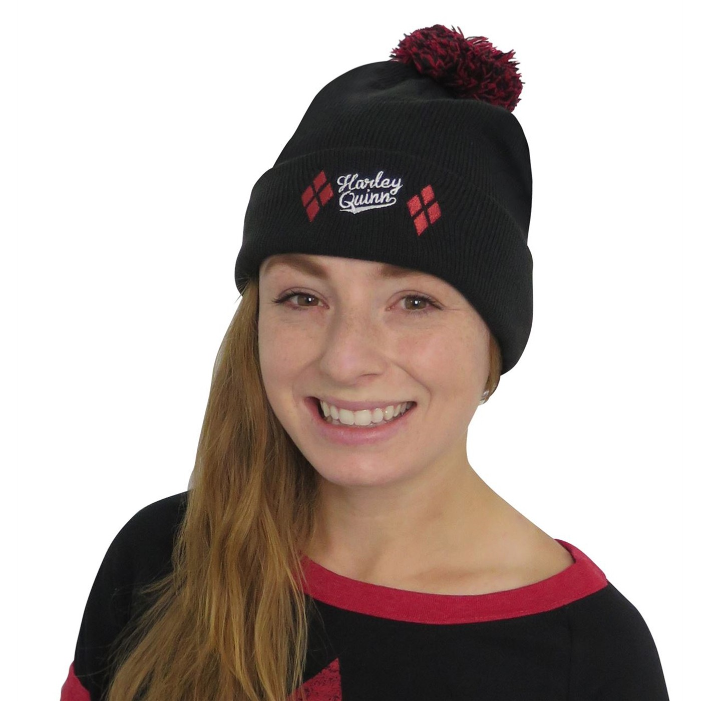 Harley Quinn Athletic Women's Sweater with Beanie
