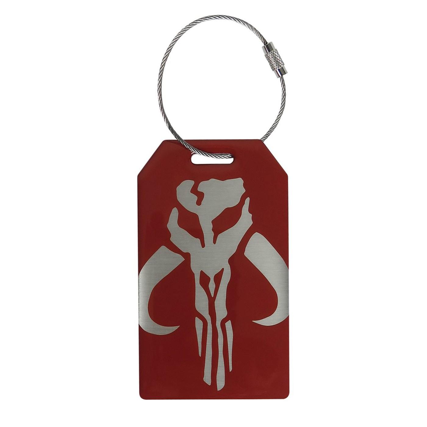 Star Wars Mandalorian Crest Metal Bag Tag
