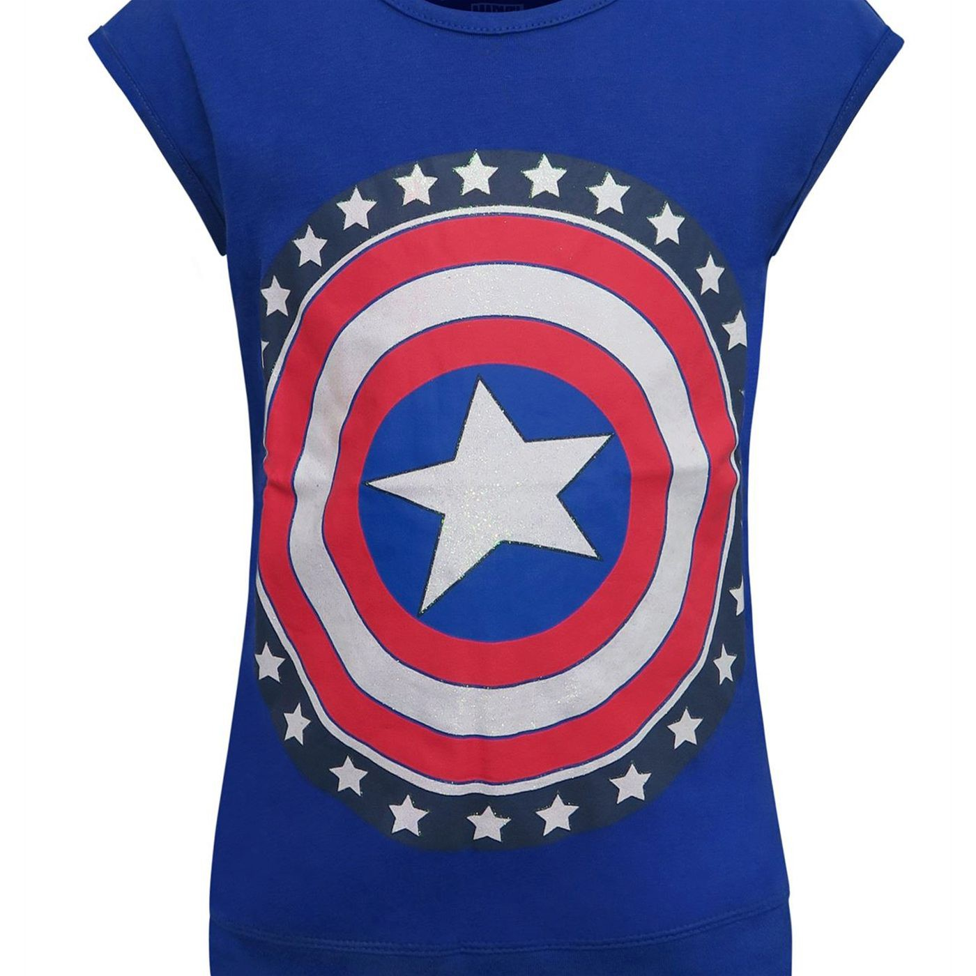 Captain America Shield Hooded Girls Tank Top