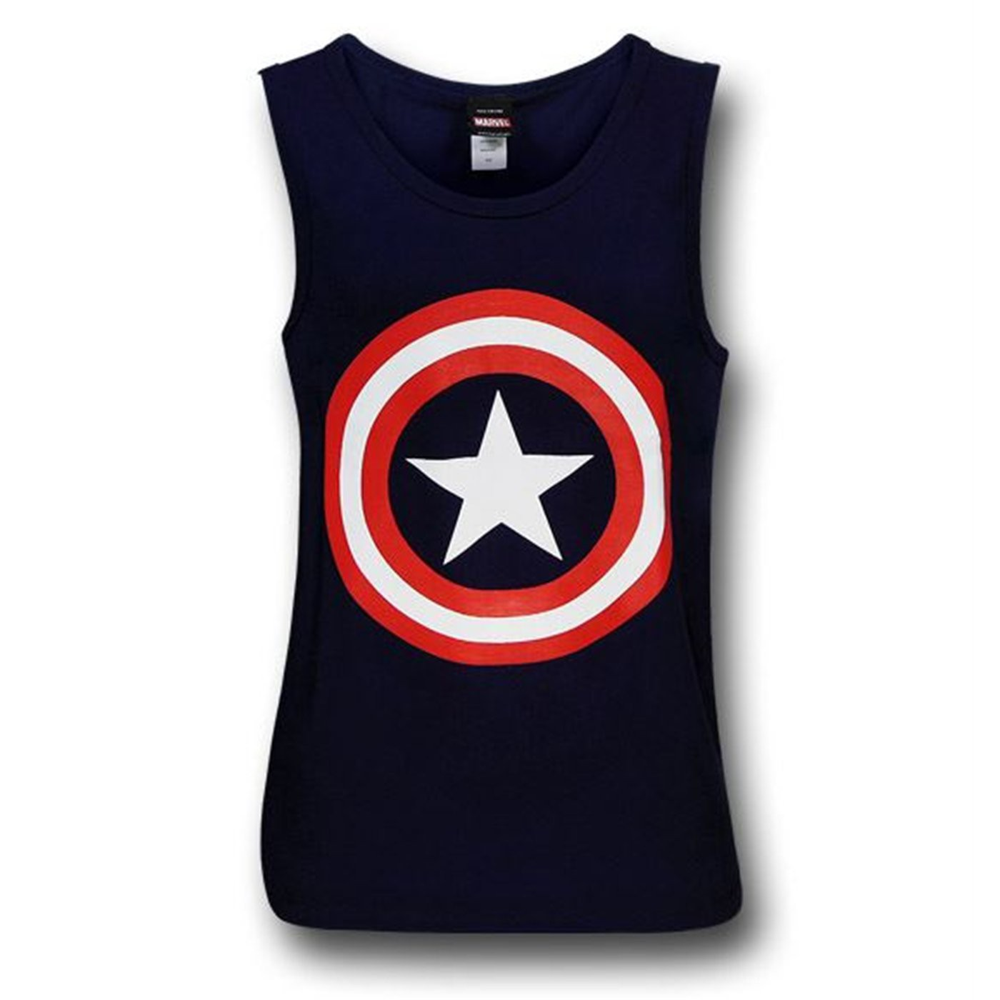 Captain America Shield Navy Tank Top