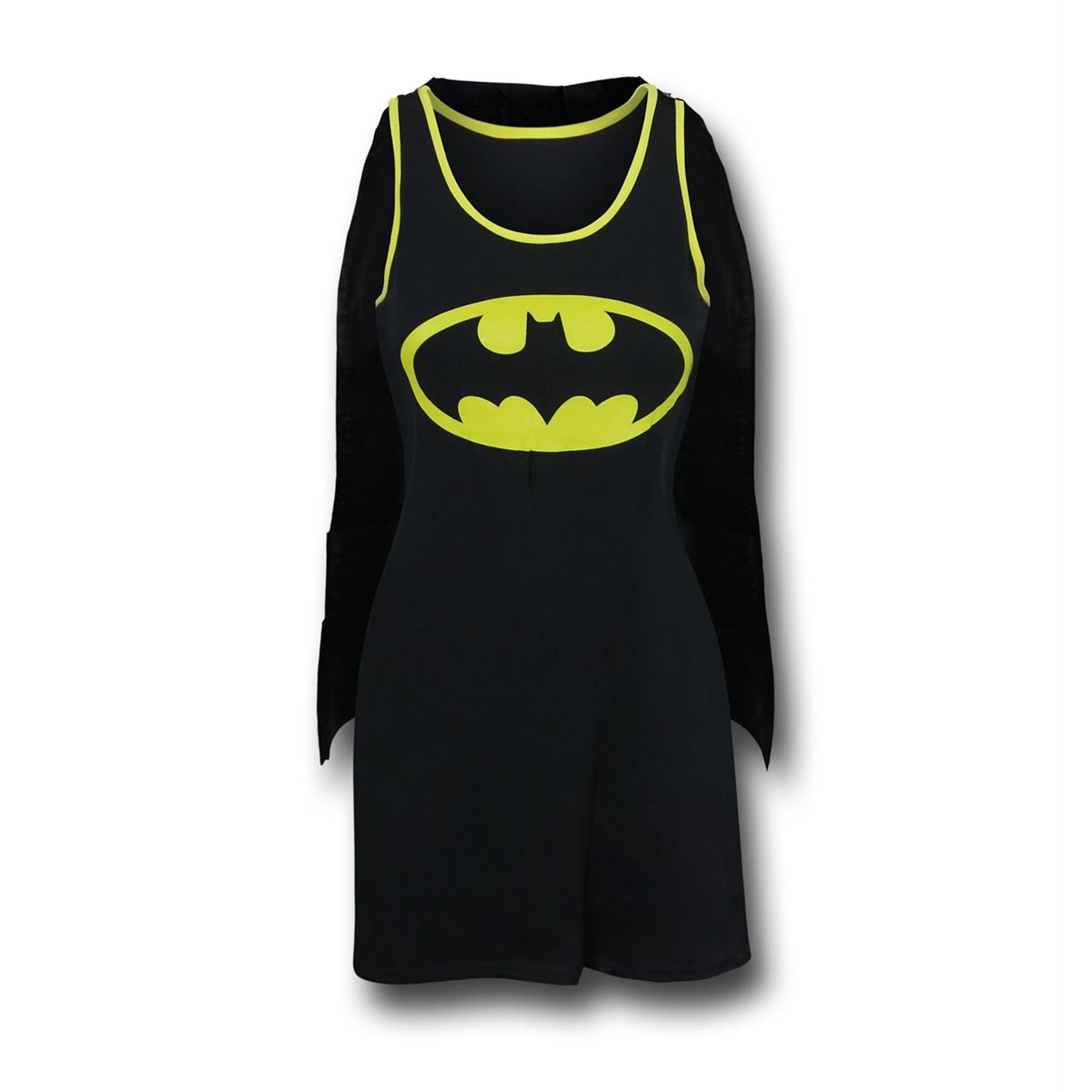 Batman Symbol Women's Tank Dress with Removable Cape
