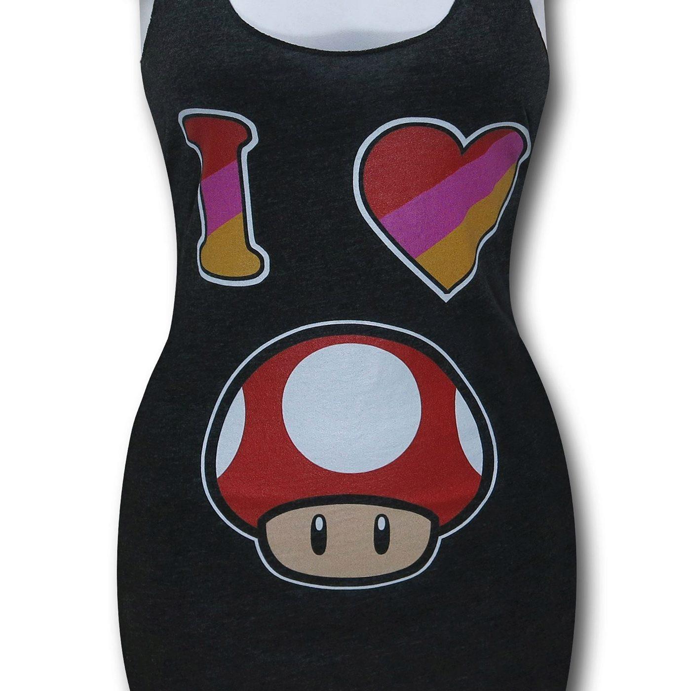 Nintendo Heart Mushroom Women's Tank Top