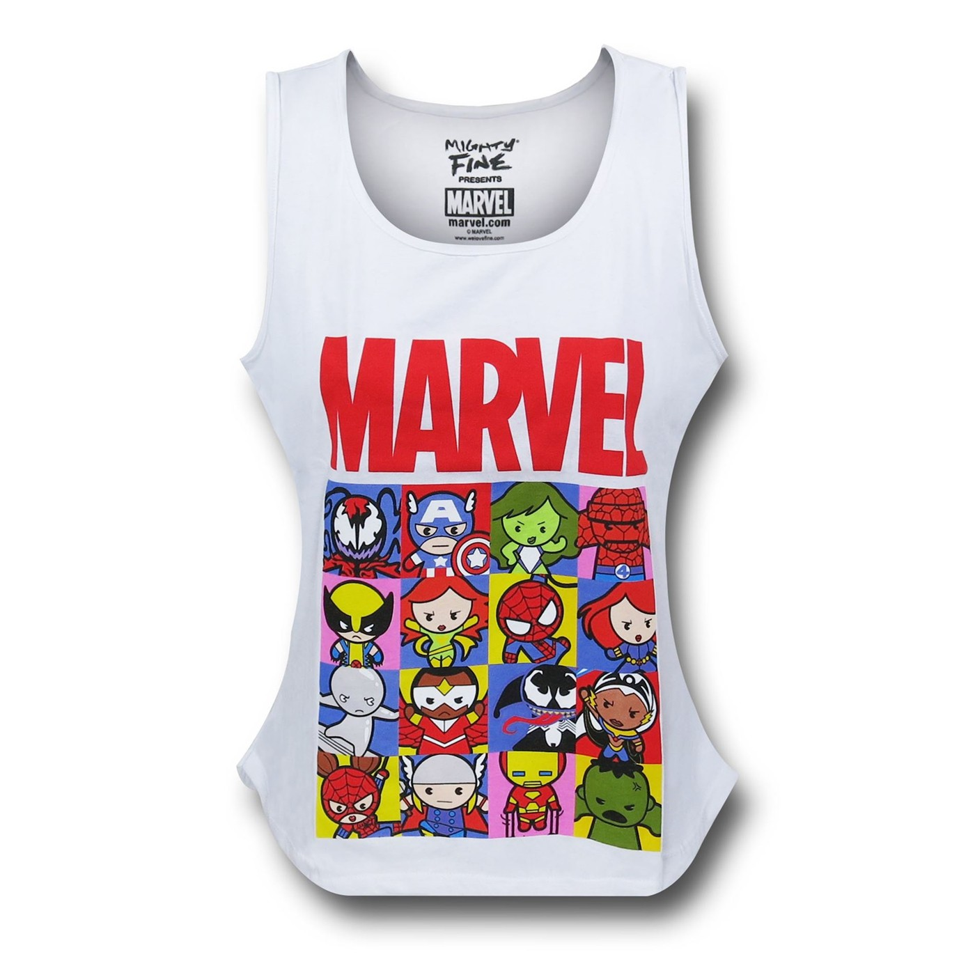 Marvel Kawaii Grid Women's Tank Top