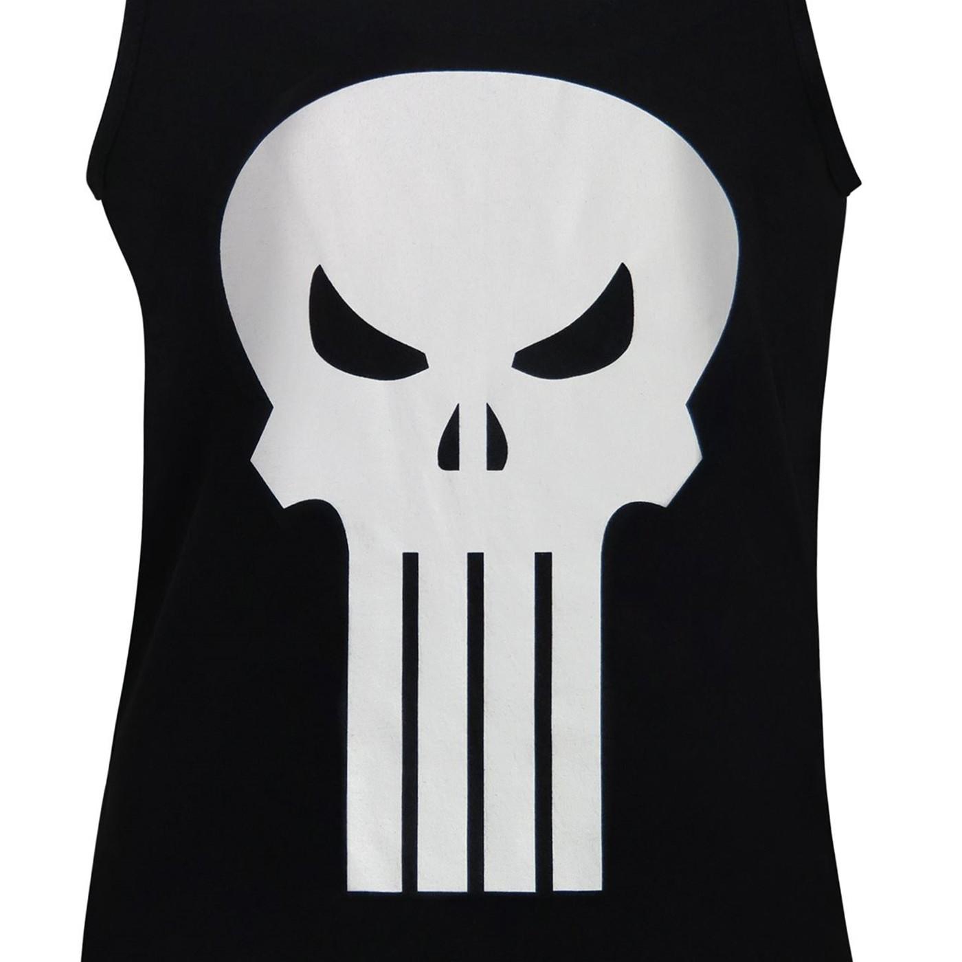 Punisher White Skull Tank Top