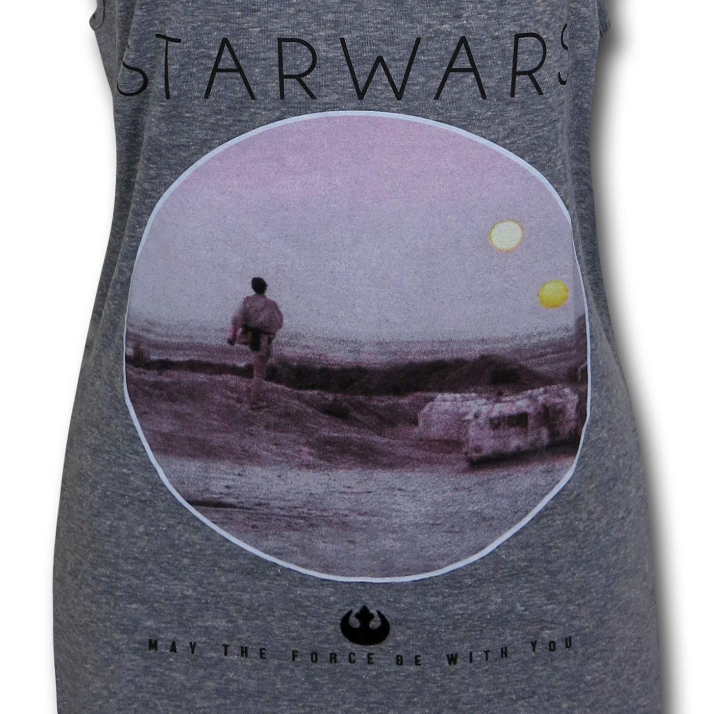 Star Wars Photo Circle Women's Triblend Tank Top