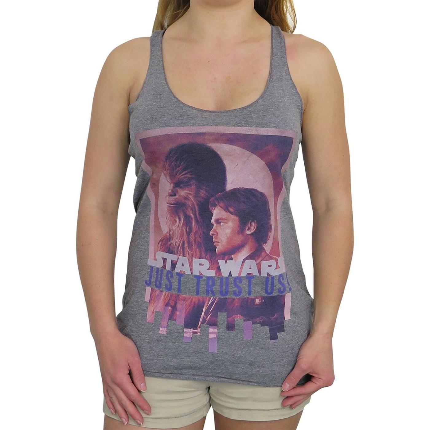 Star Wars Solo Trust Us Women's Racerback Tank Top