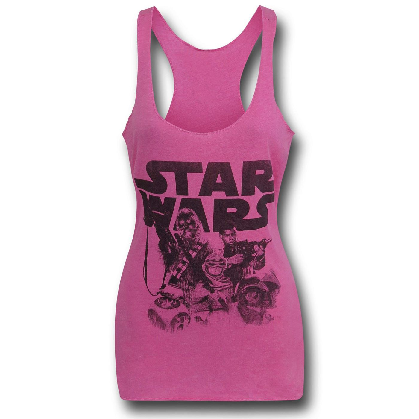 Star Wars Force Awakens Women's Pink Tank Top