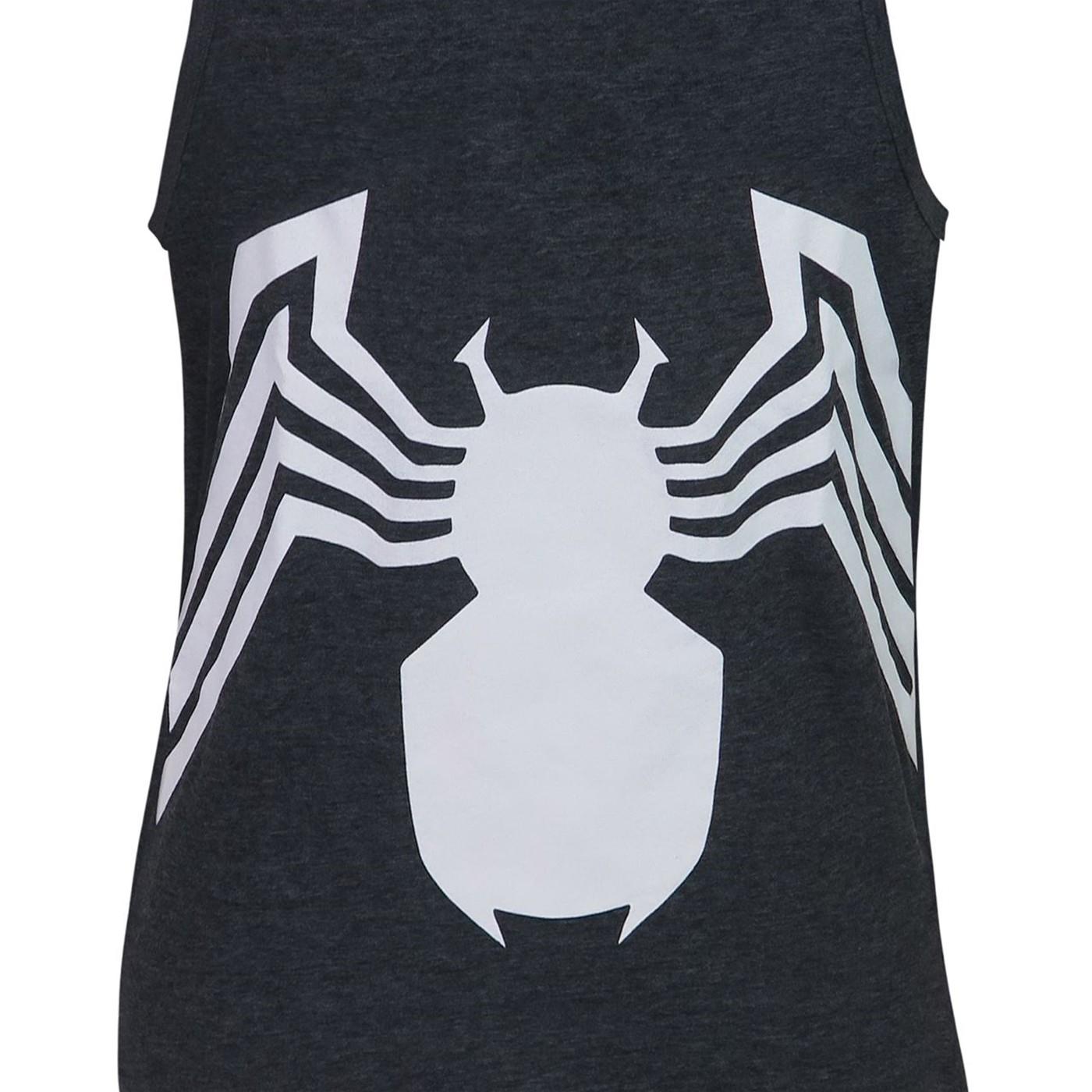 Venom Symbol Heather Charcoal Tank Top