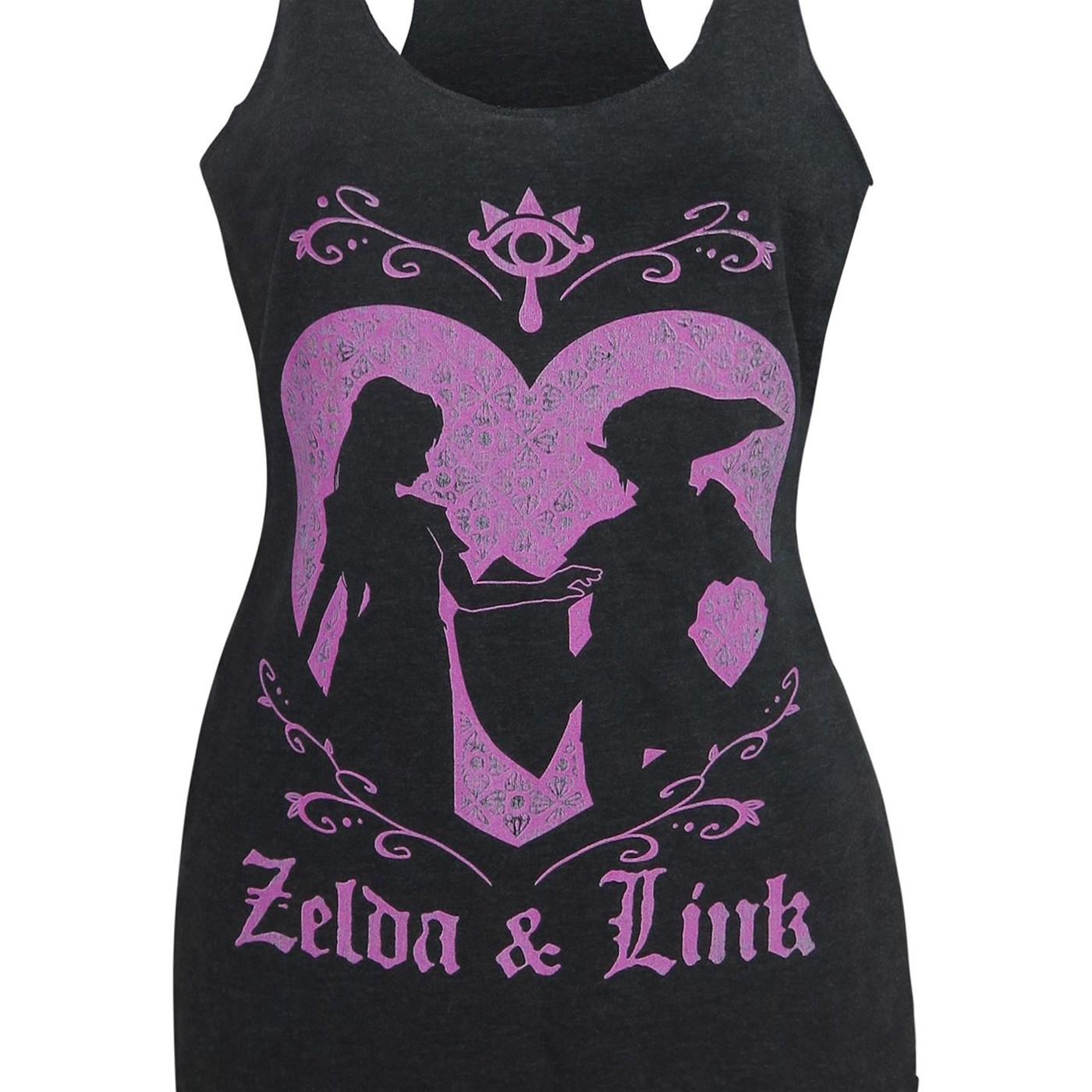 Zelda and Link Love Women's Tank Top