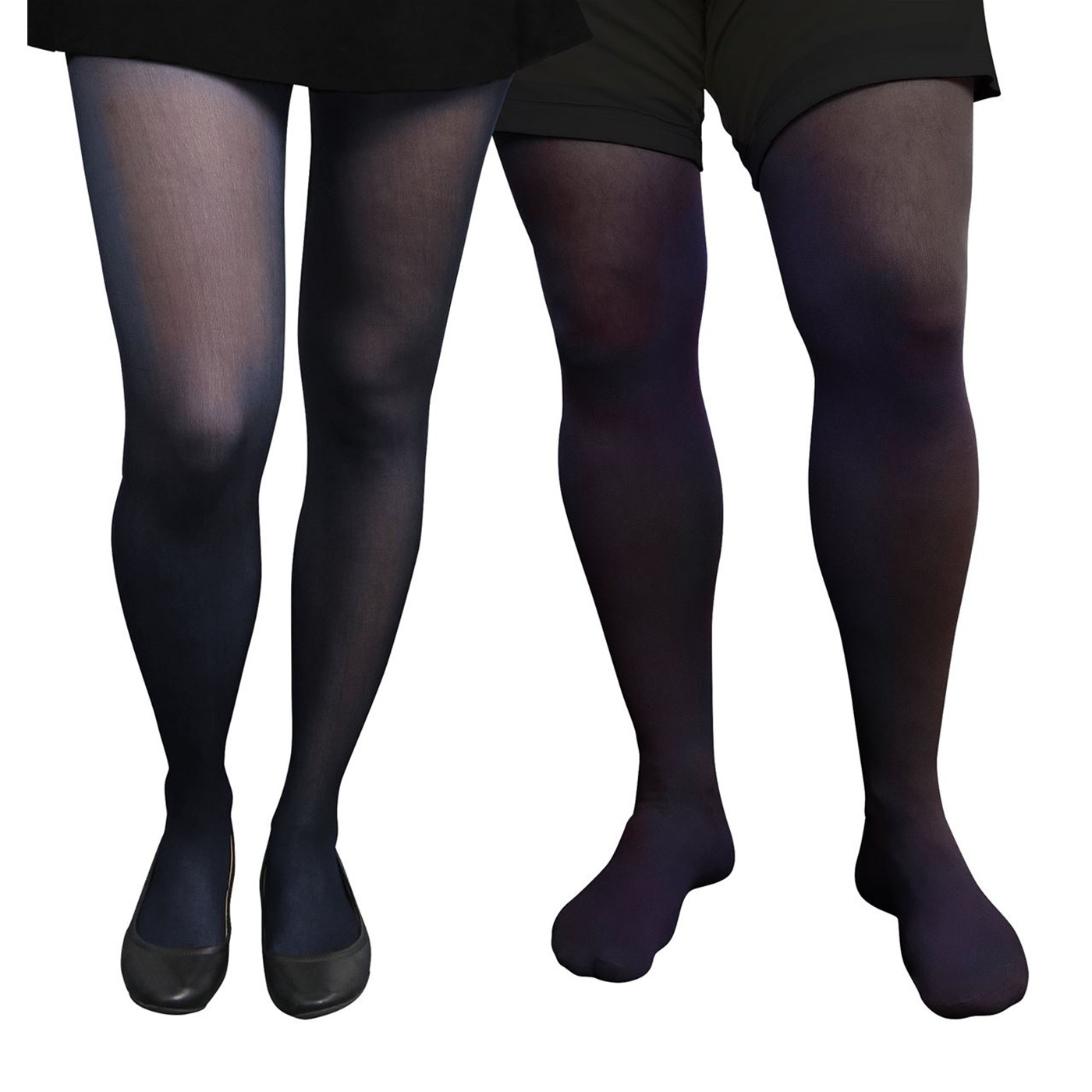 Adult Unisex Costume Navy Blue Tights