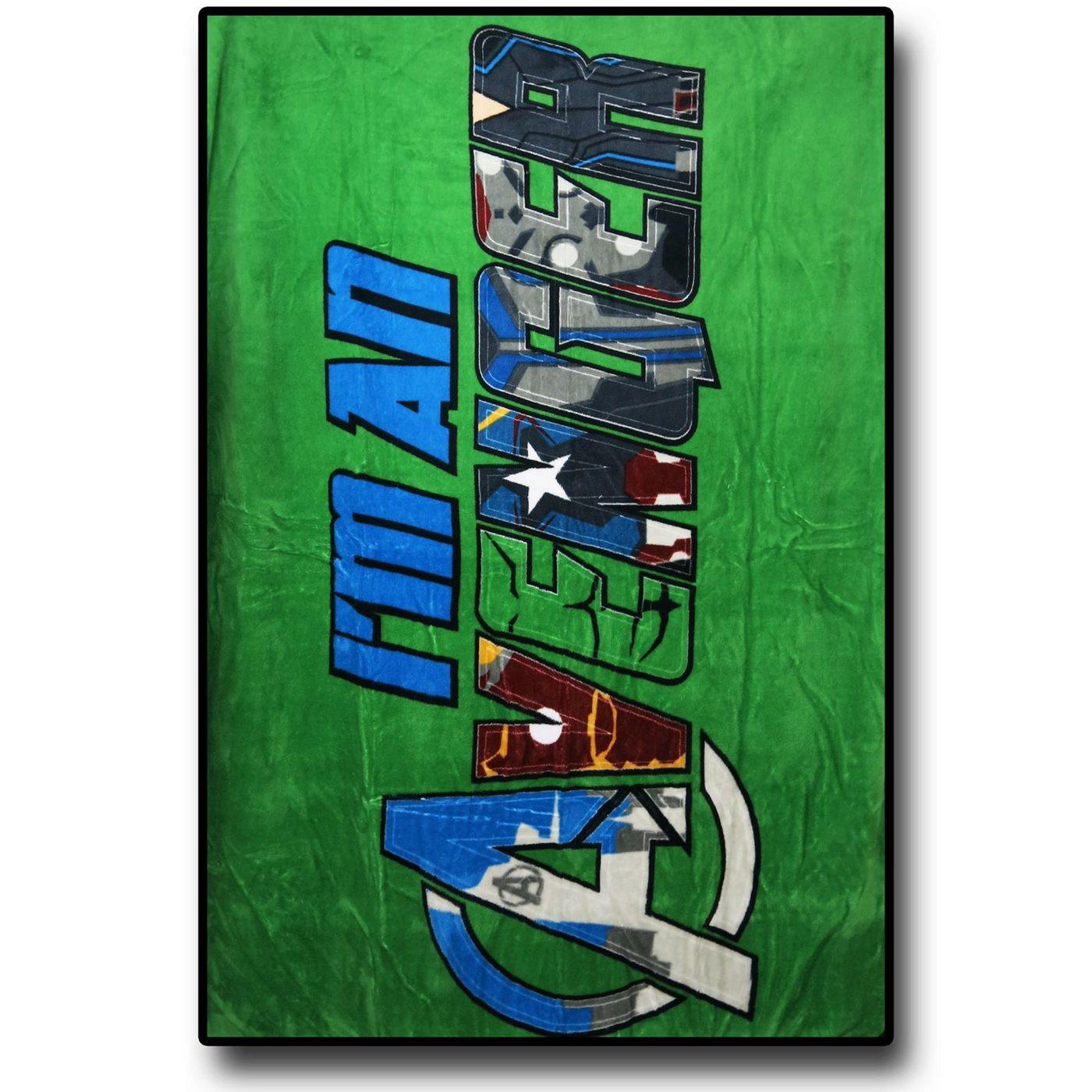 Avengers I'm An Avenger Throw Blanket