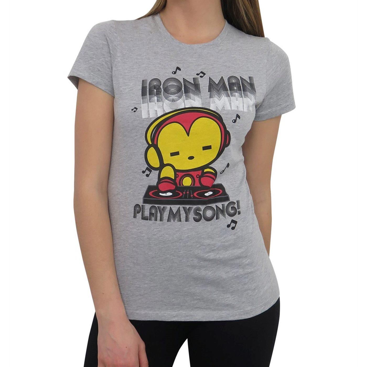 Iron Man Play My Song Women's T-Shirt