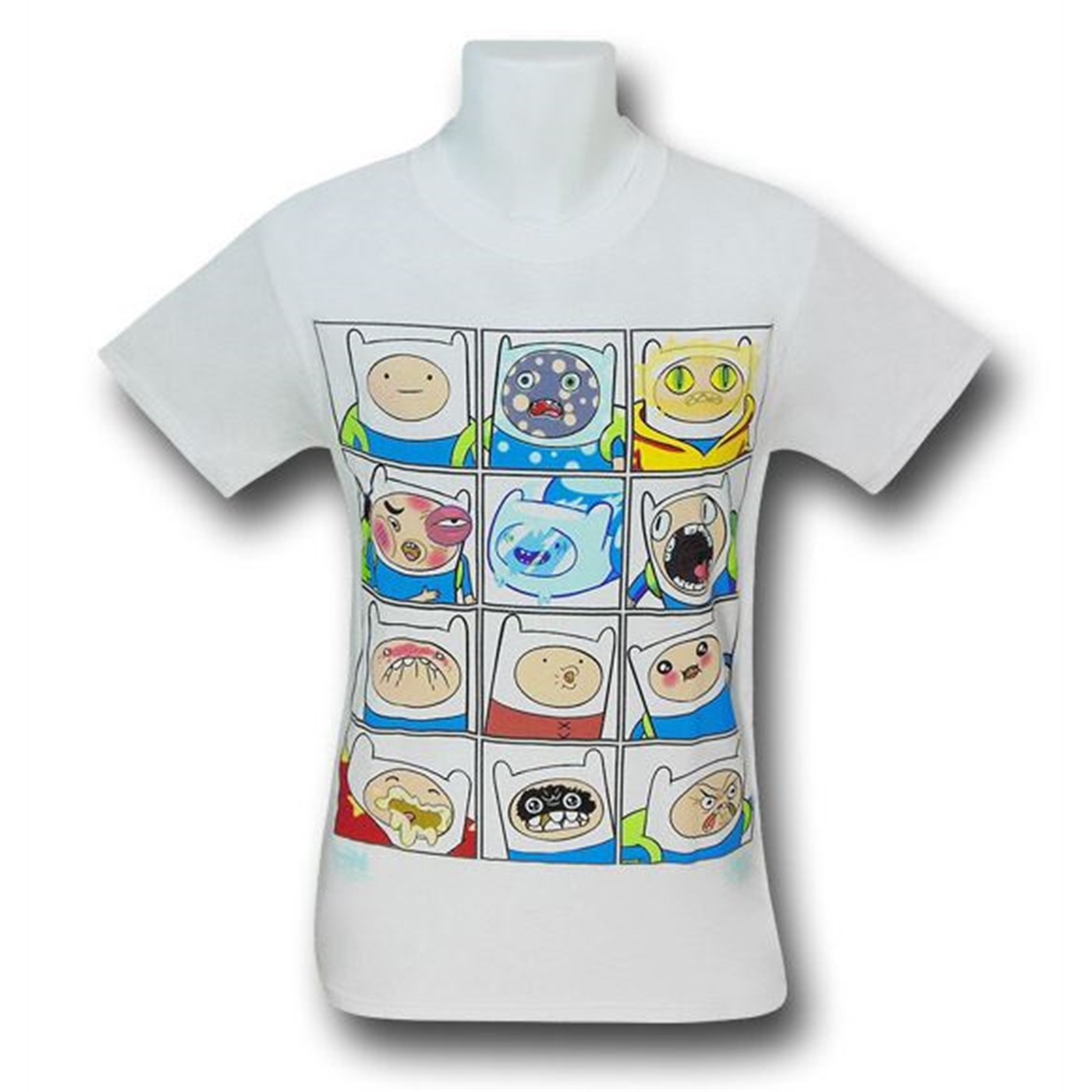 Adventure Time Expressions of Finn T-Shirt