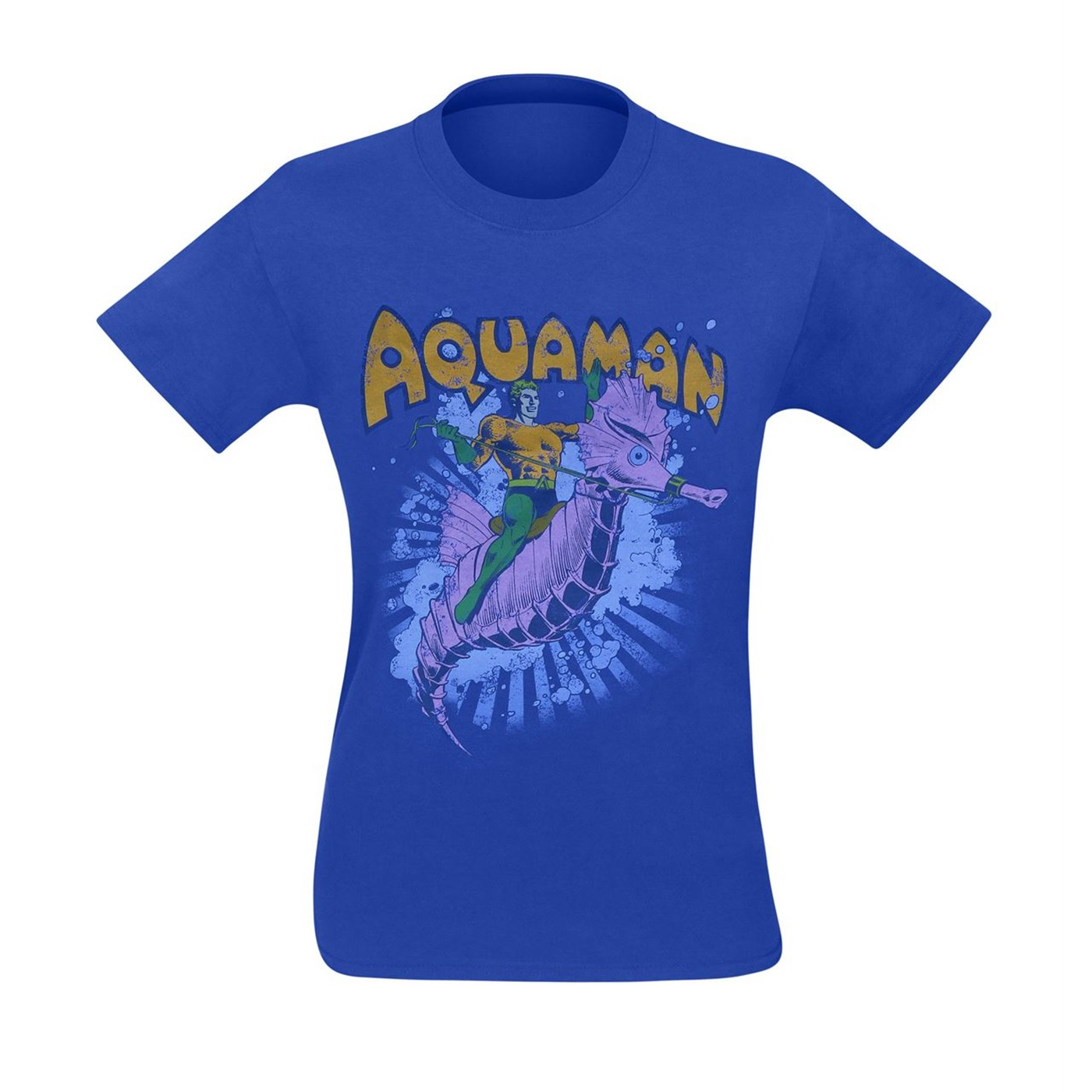 Aquaman And Storm The Seahorse Men's T-Shirt