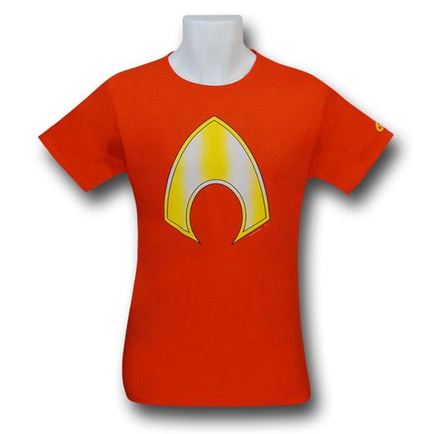 Aquaman Symbol Orange T-Shirt