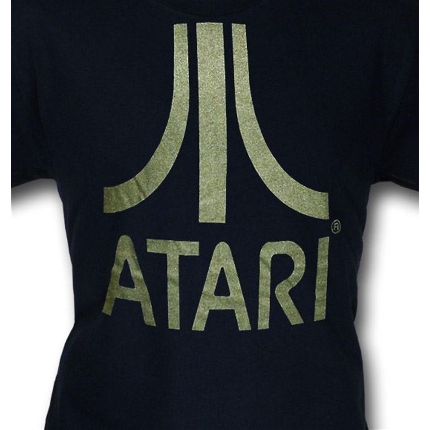 Atari Metallic Symbol Navy T-Shirt