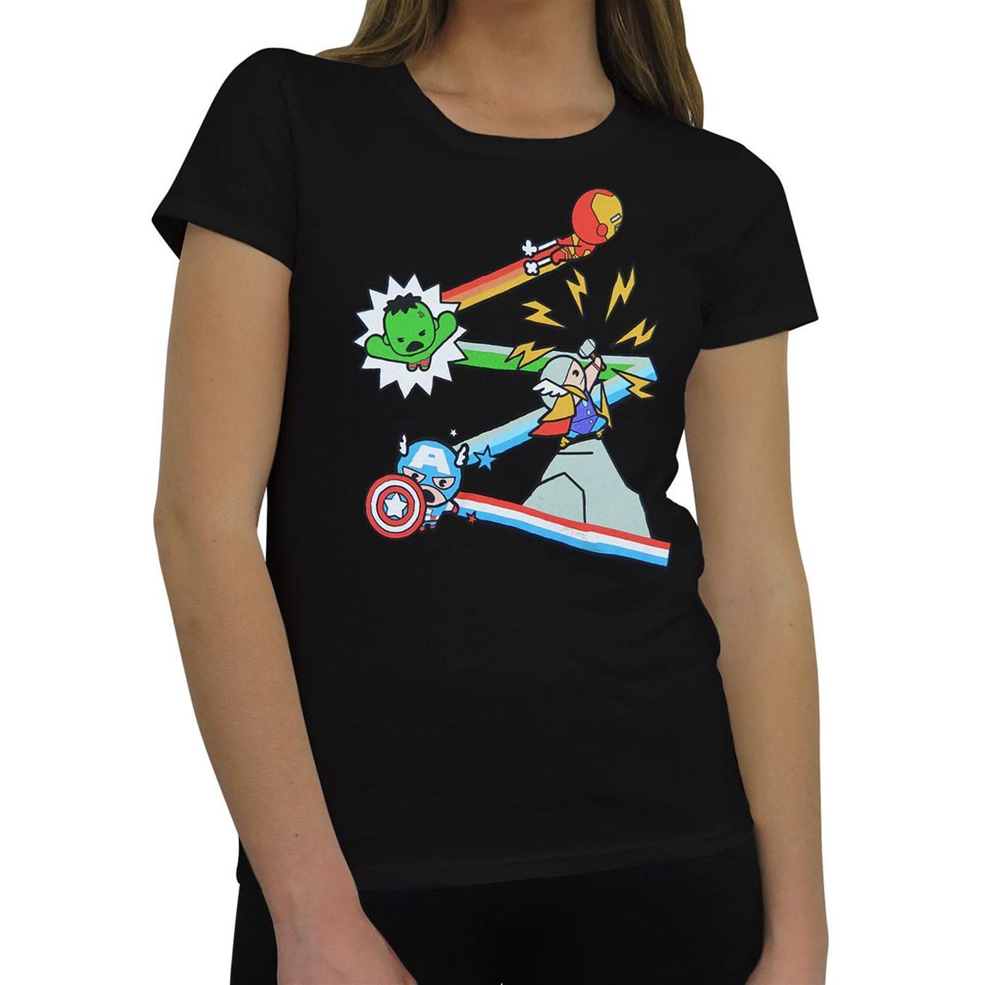 Avengers Kawaii Assemble Women's T-Shirt