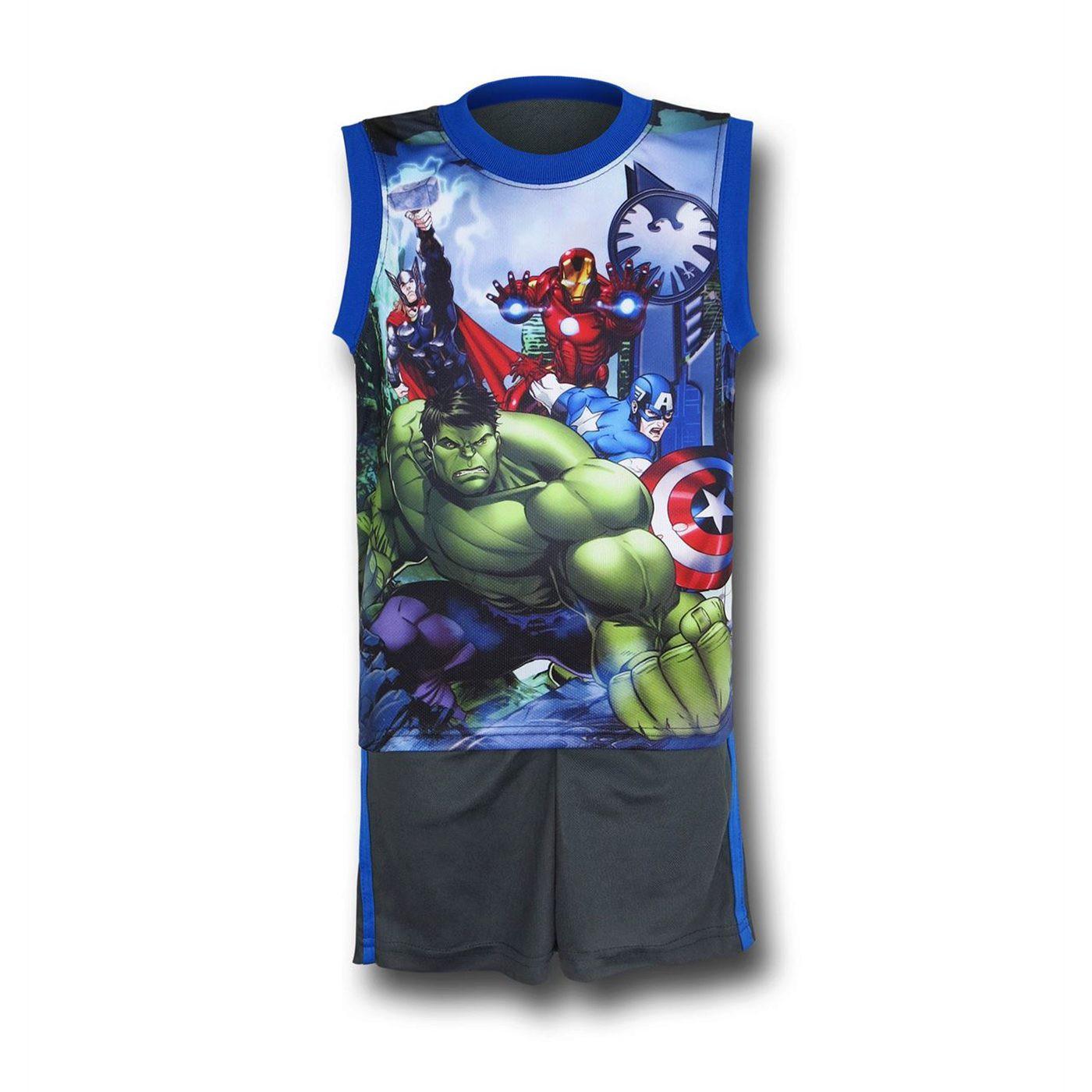 Avengers Kids Tank & Short Set