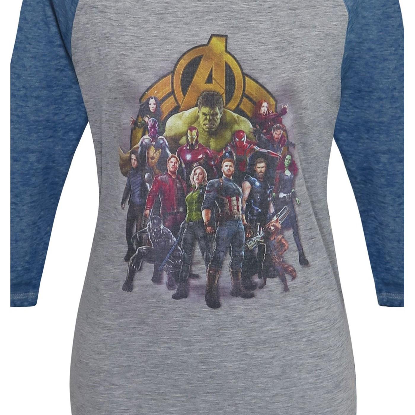 Infinity War Assemble Women's Baseball T-Shirt