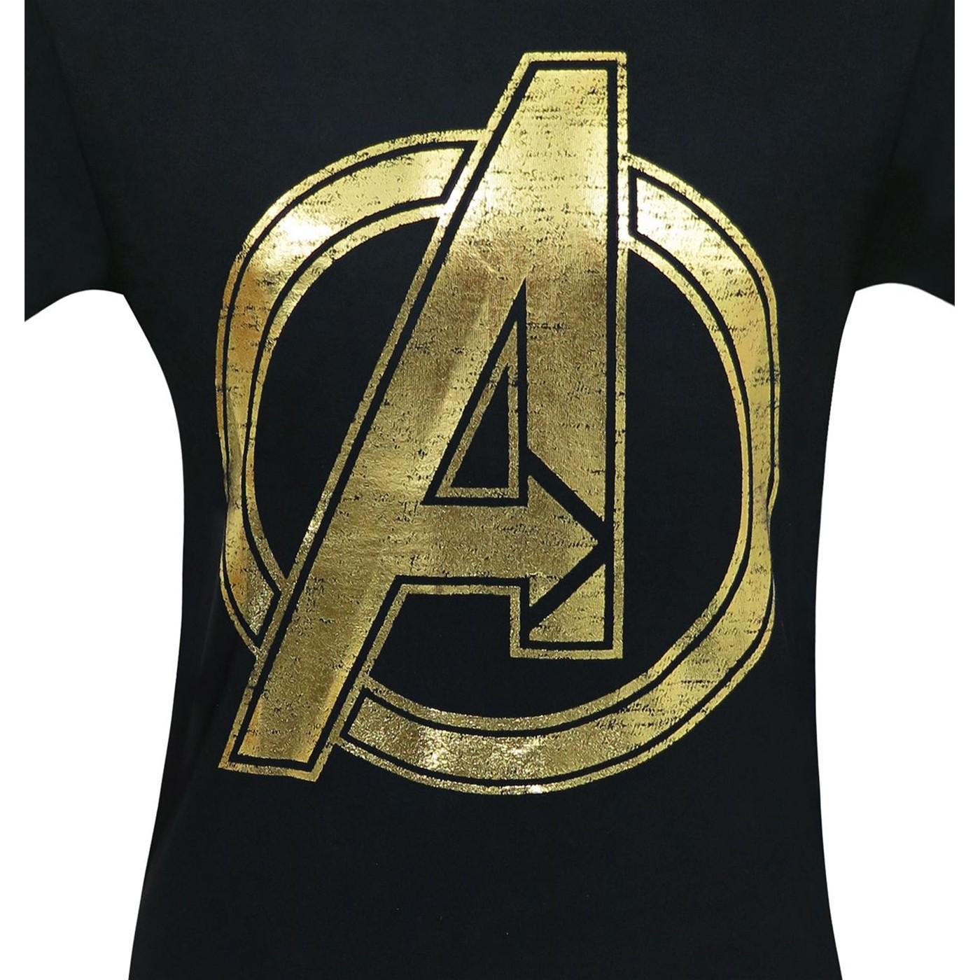 Avengers Gold Logo Men's T-Shirt