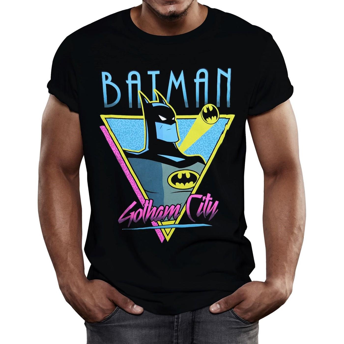 Batman Animated Gotham City Retro Men's T-Shirt