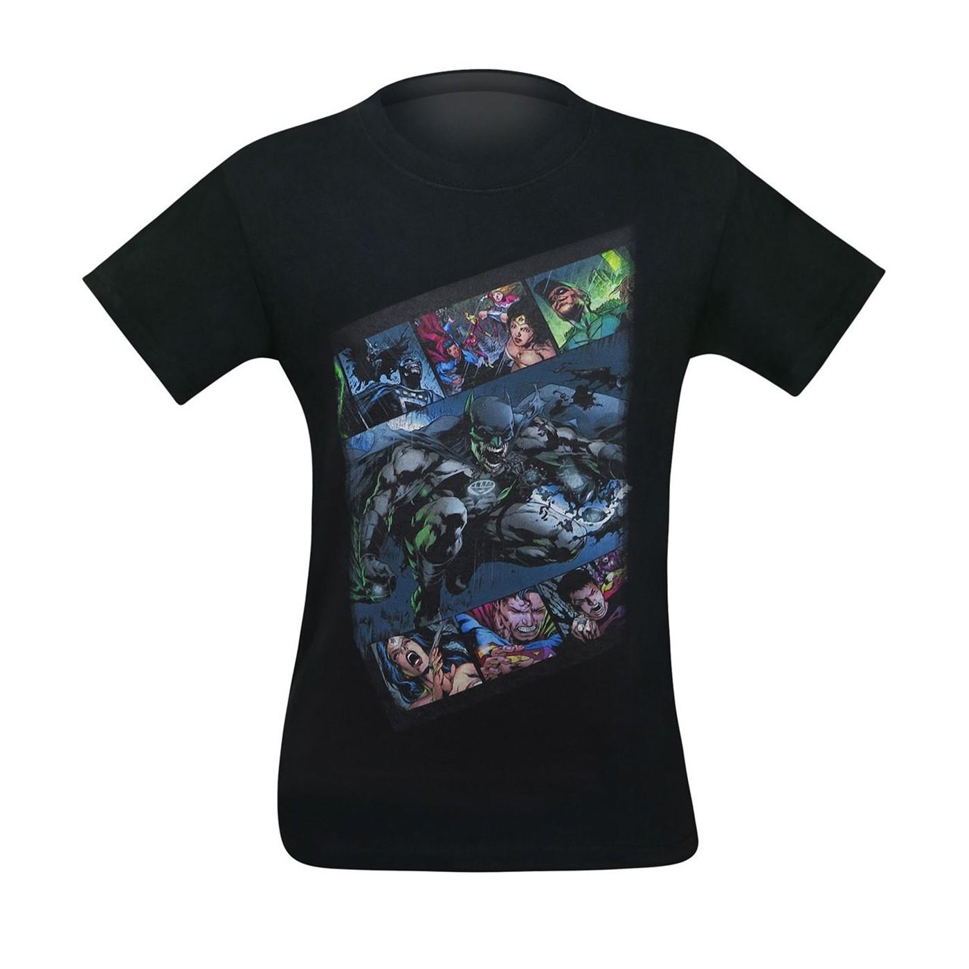 Batman Green Lantern Blackest Night Men's T-Shirt